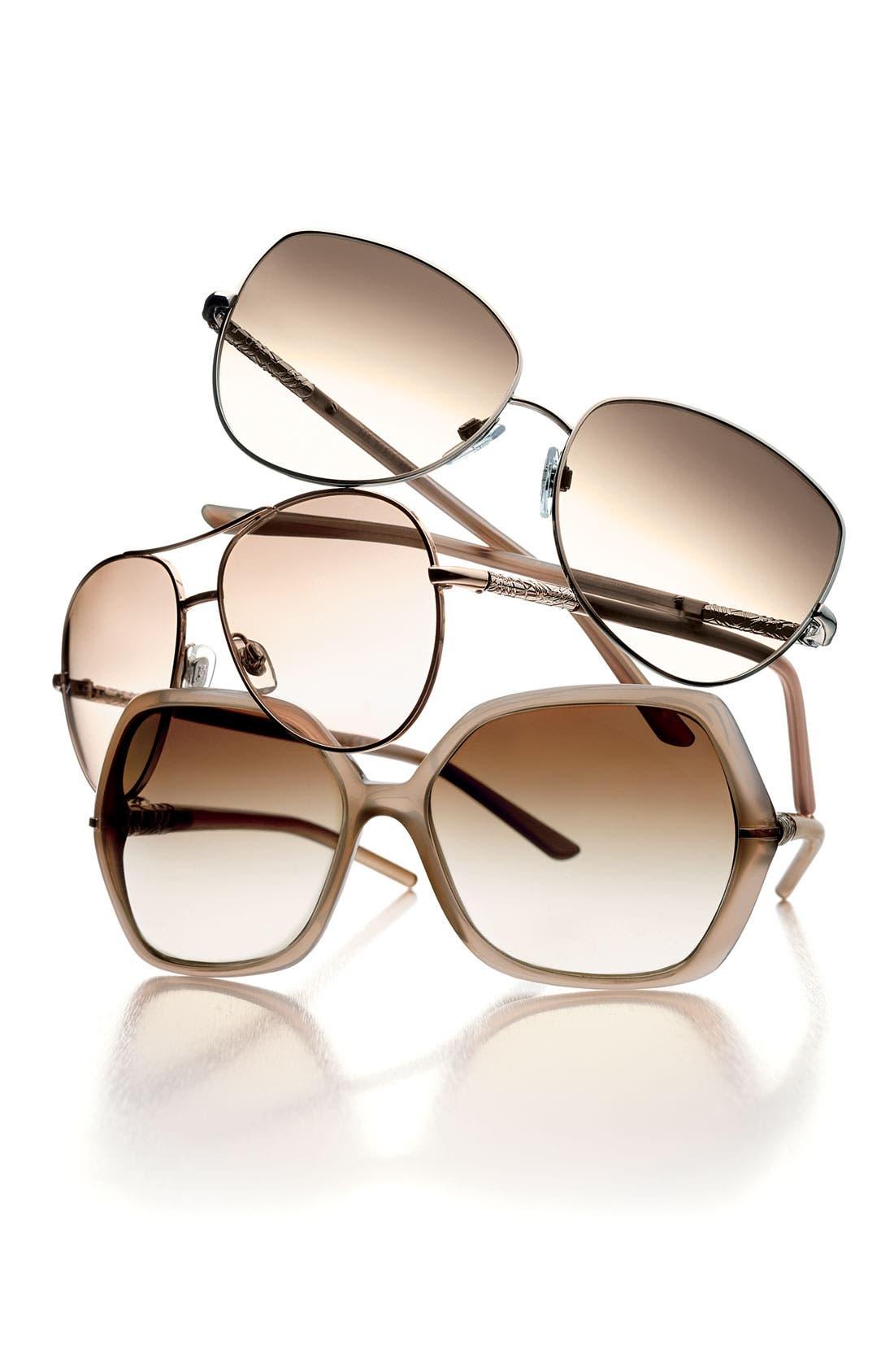 Metal Aviator Sunglasses,                             Alternate thumbnail 2, color,                             001