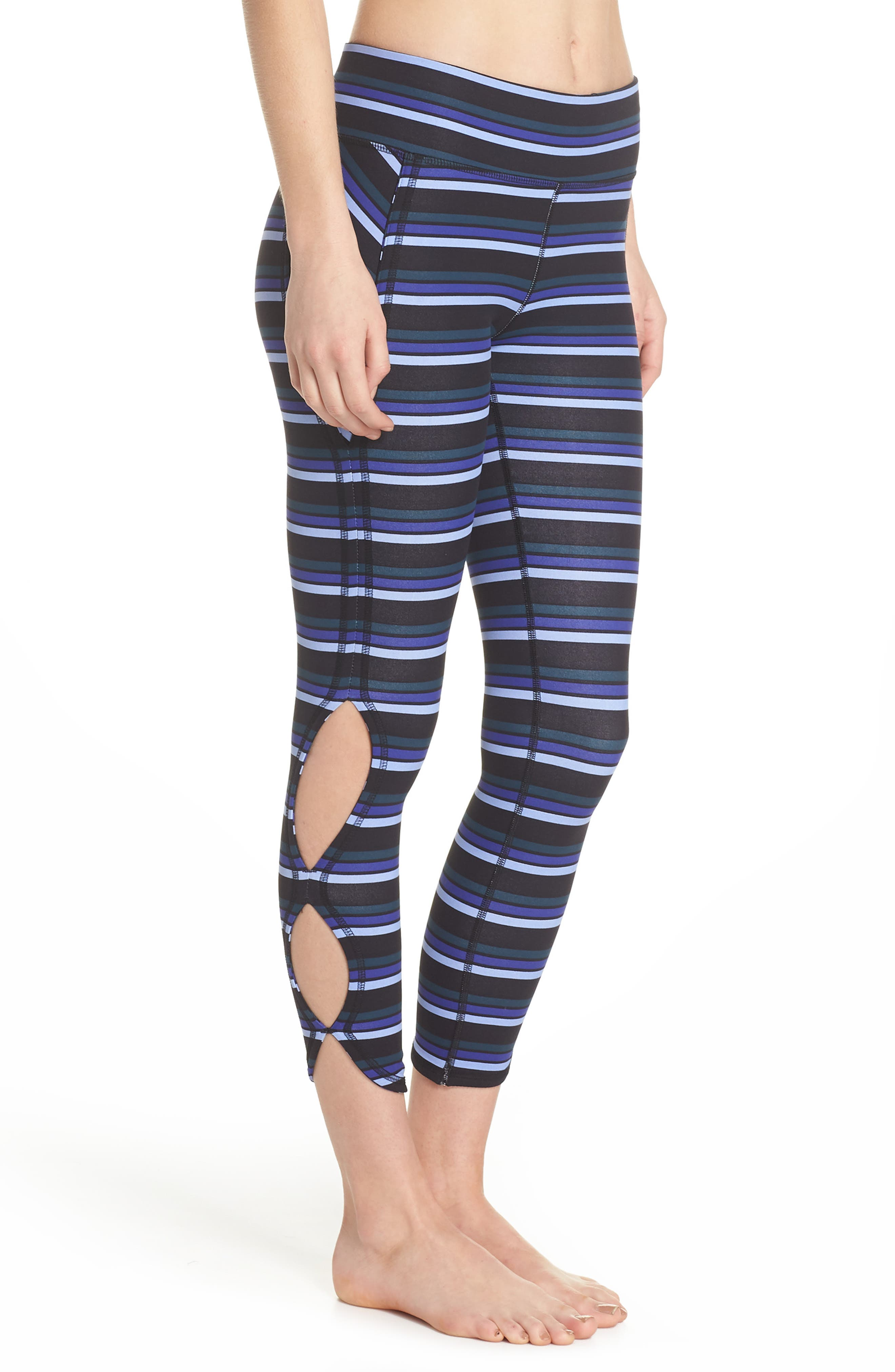 FREE PEOPLE MOVEMENT,                             Stripe Infinity Leggings,                             Alternate thumbnail 3, color,                             001