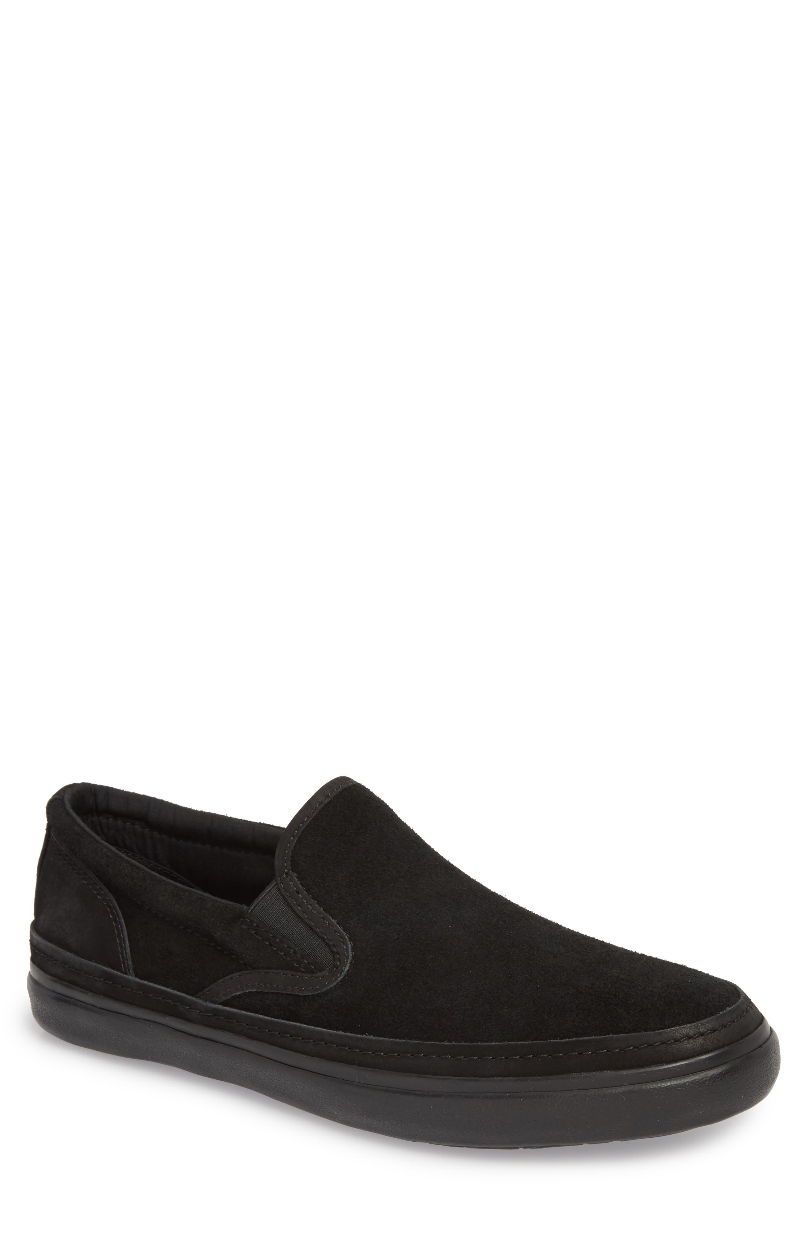 Suede Jet Slip-On Sneaker,                             Main thumbnail 1, color,                             BLACK SUEDE