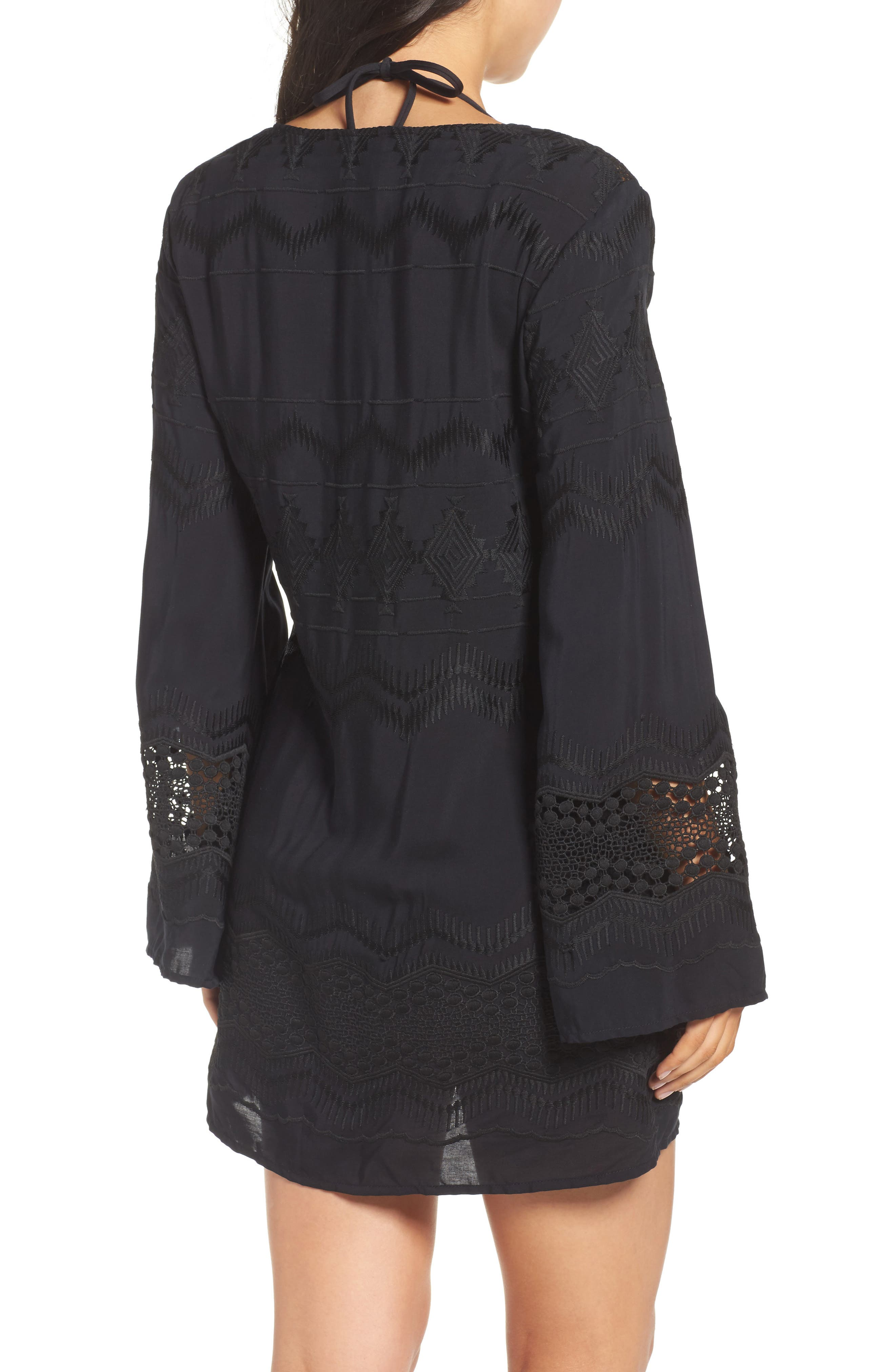 Cover-Up Tunic,                             Alternate thumbnail 2, color,                             BLACK