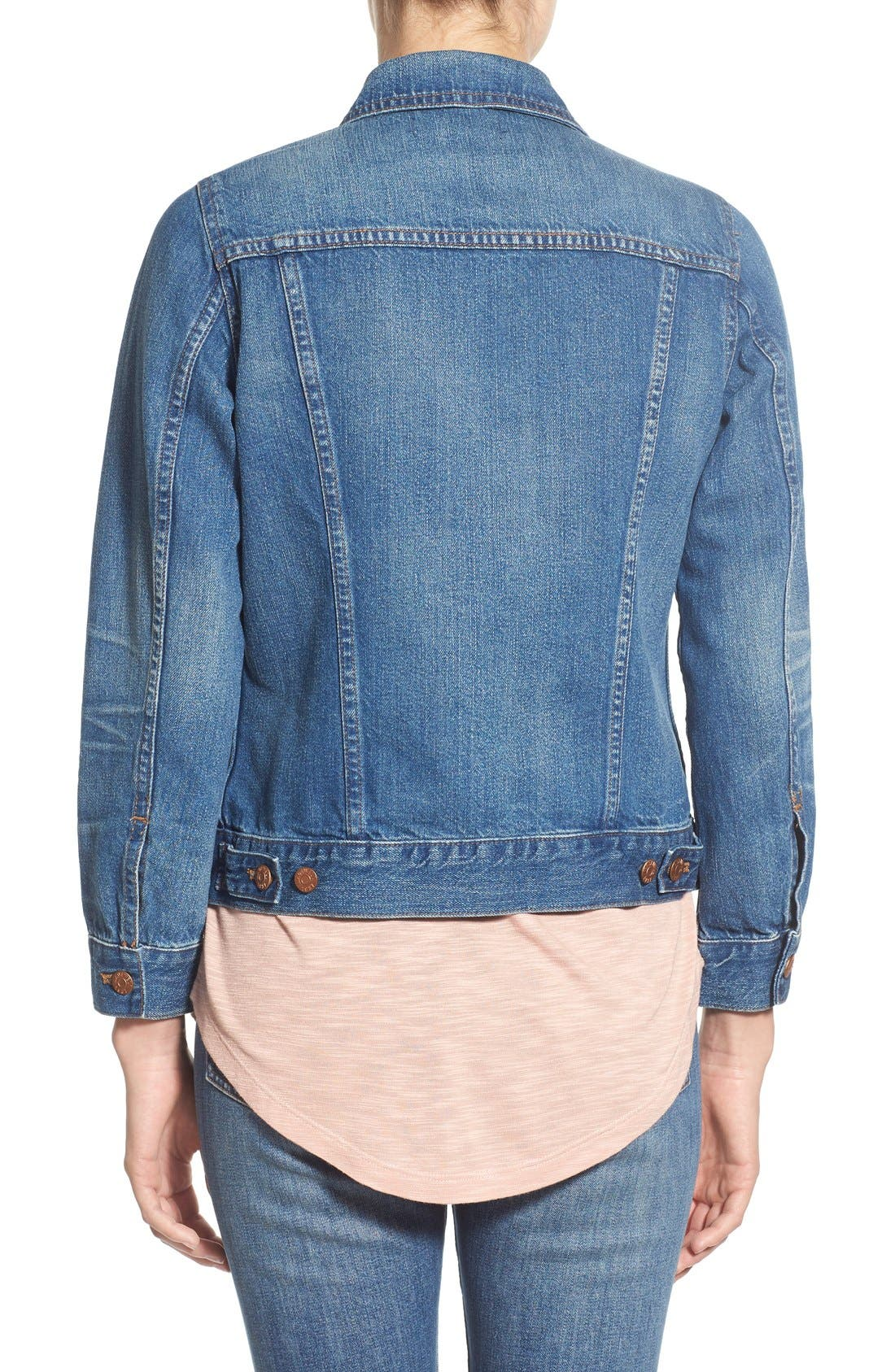 Denim Jacket,                             Alternate thumbnail 13, color,                             PINTER WASH