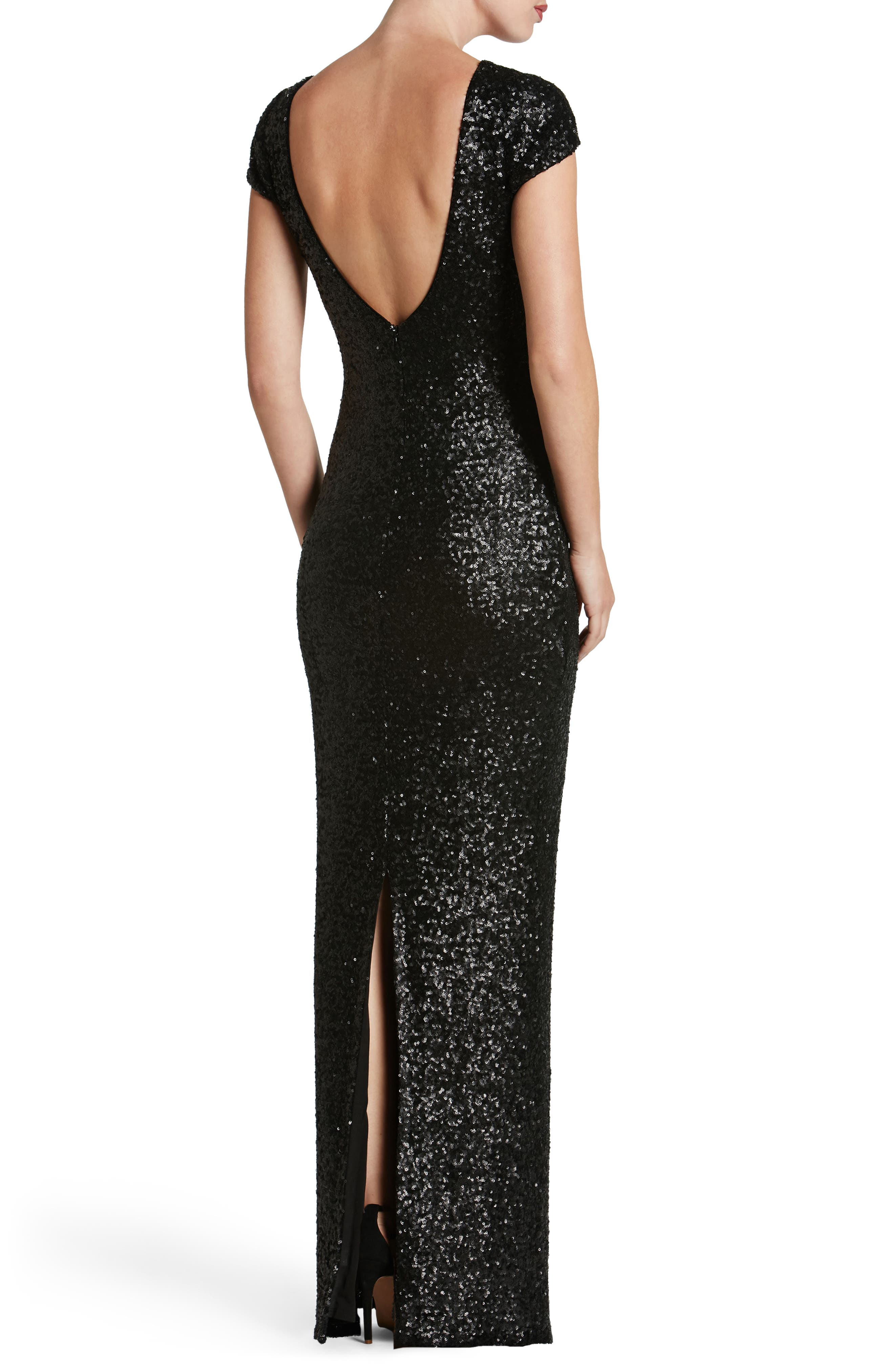 Teresa Body-Con Gown,                             Alternate thumbnail 12, color,
