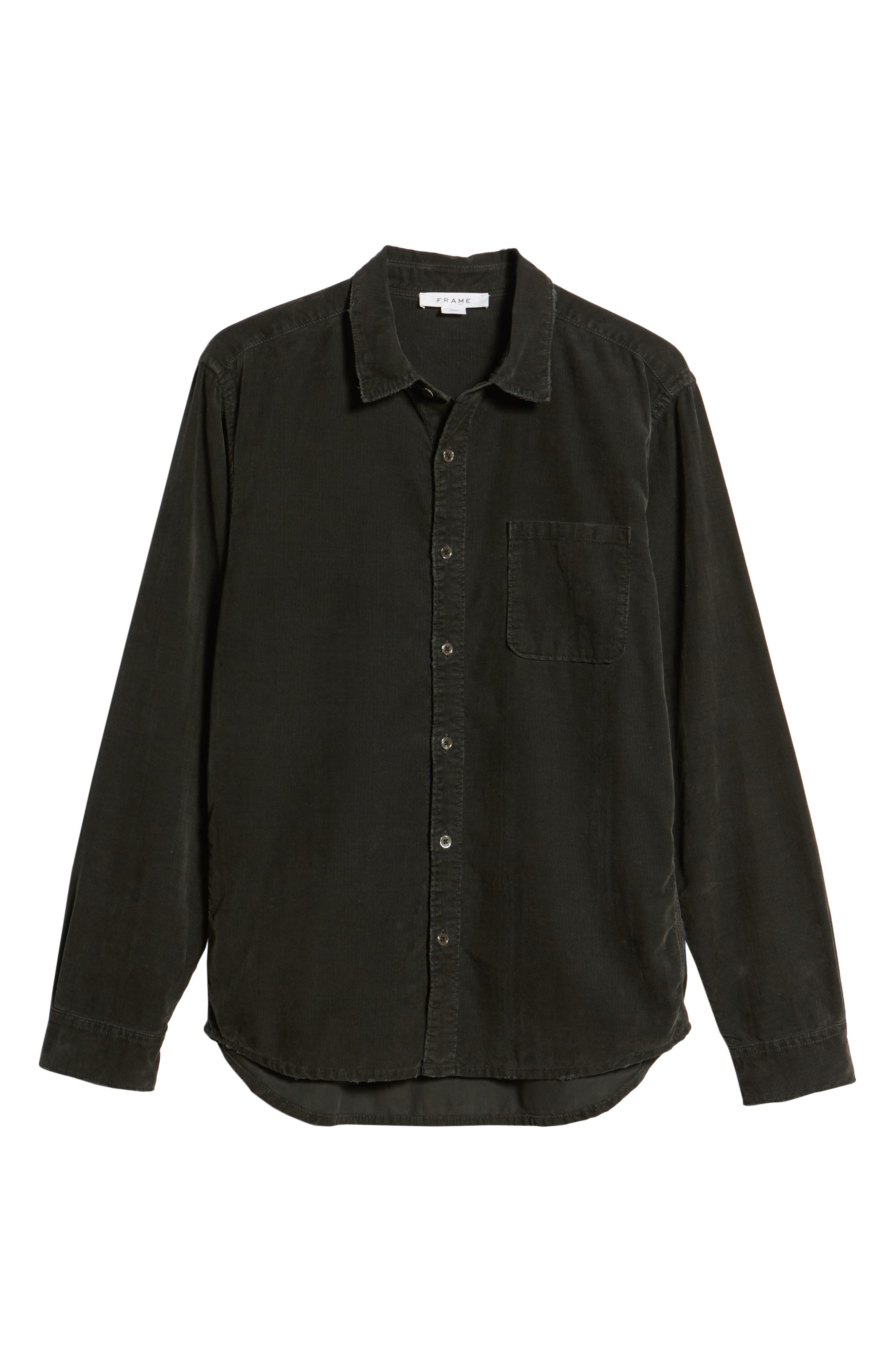 Slim Fit Corduroy Shirt,                             Alternate thumbnail 5, color,                             001