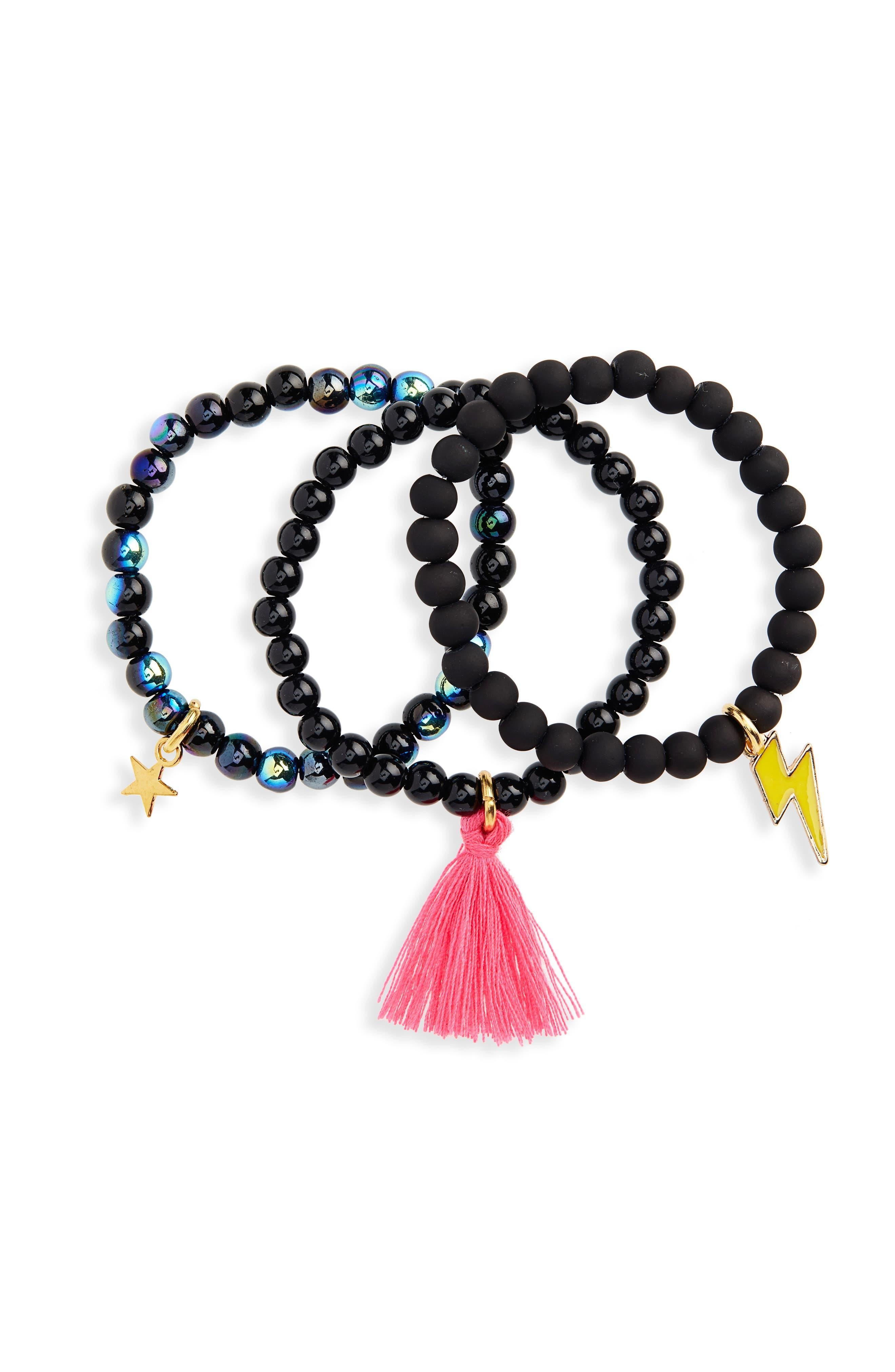 3-Pack Beaded Bracelets,                         Main,                         color, 001