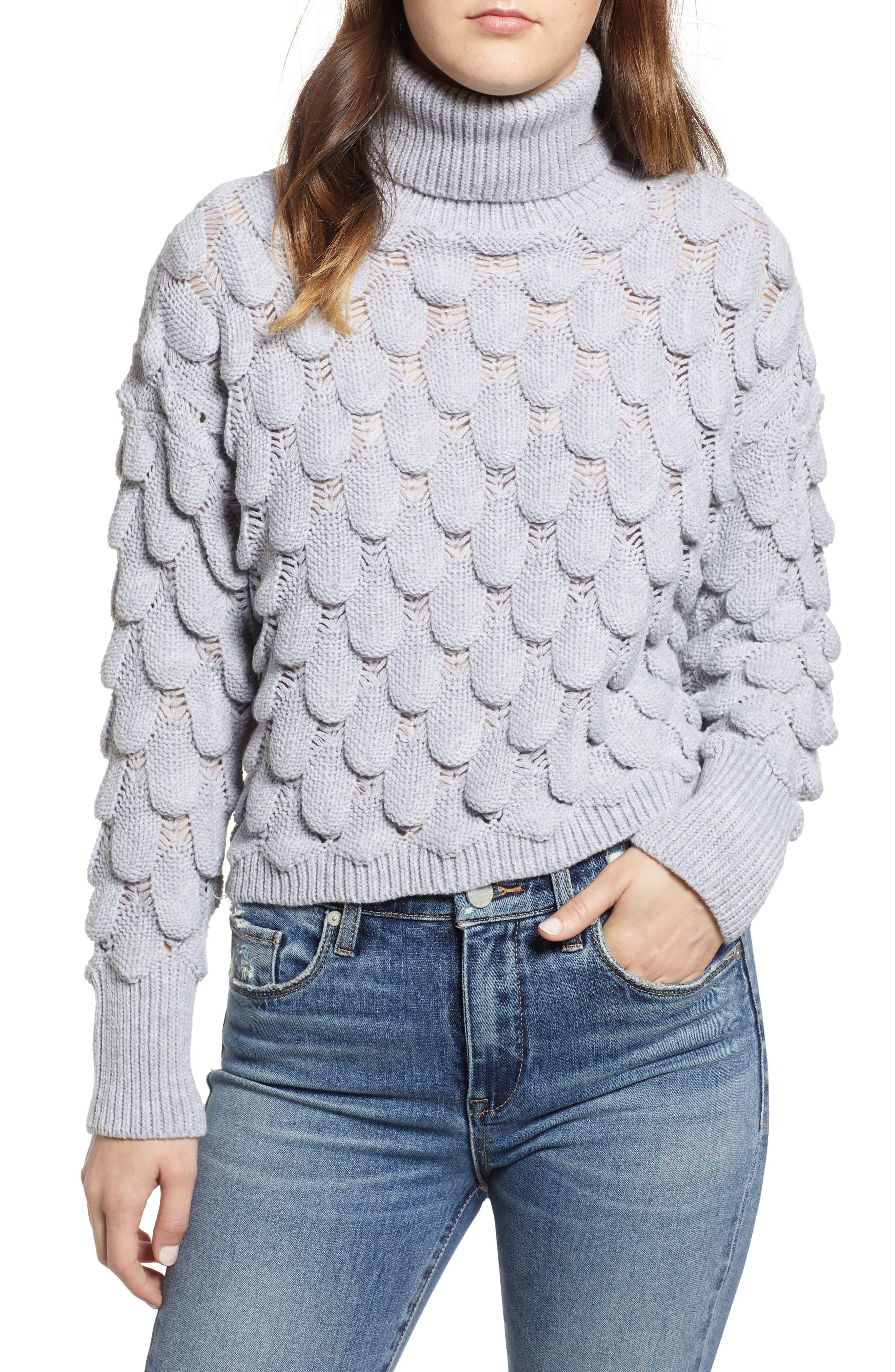 Scallop Stitch Sweater,                         Main,                         color, 038