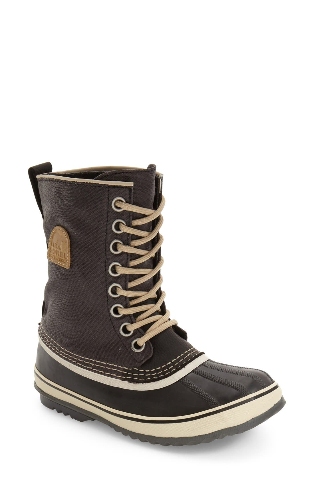 '1964 Premium' Waterproof Boot,                             Main thumbnail 1, color,                             BLACK/ FOSSIL