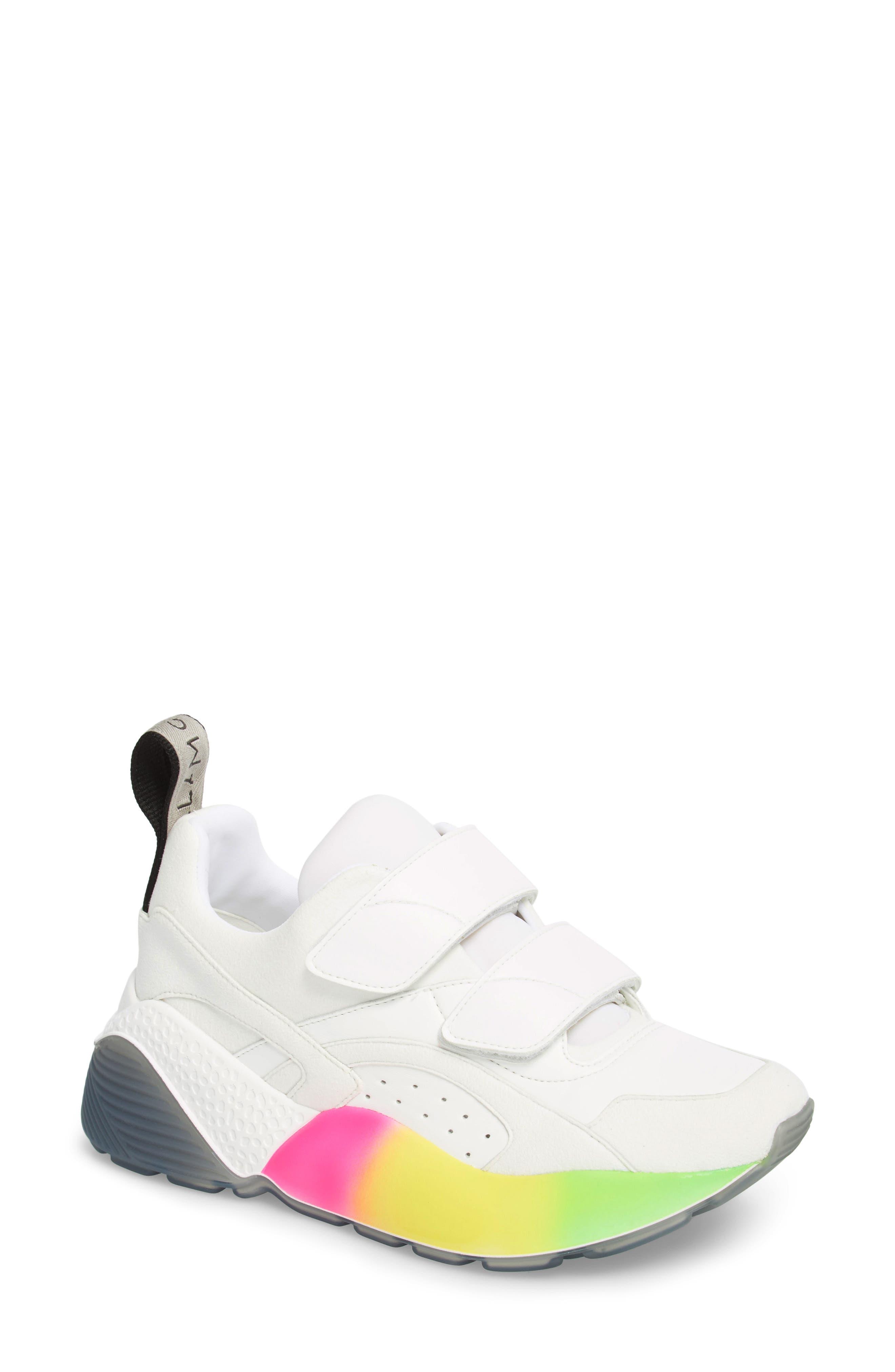 Gradient Sole Sneaker,                         Main,                         color, WHITE