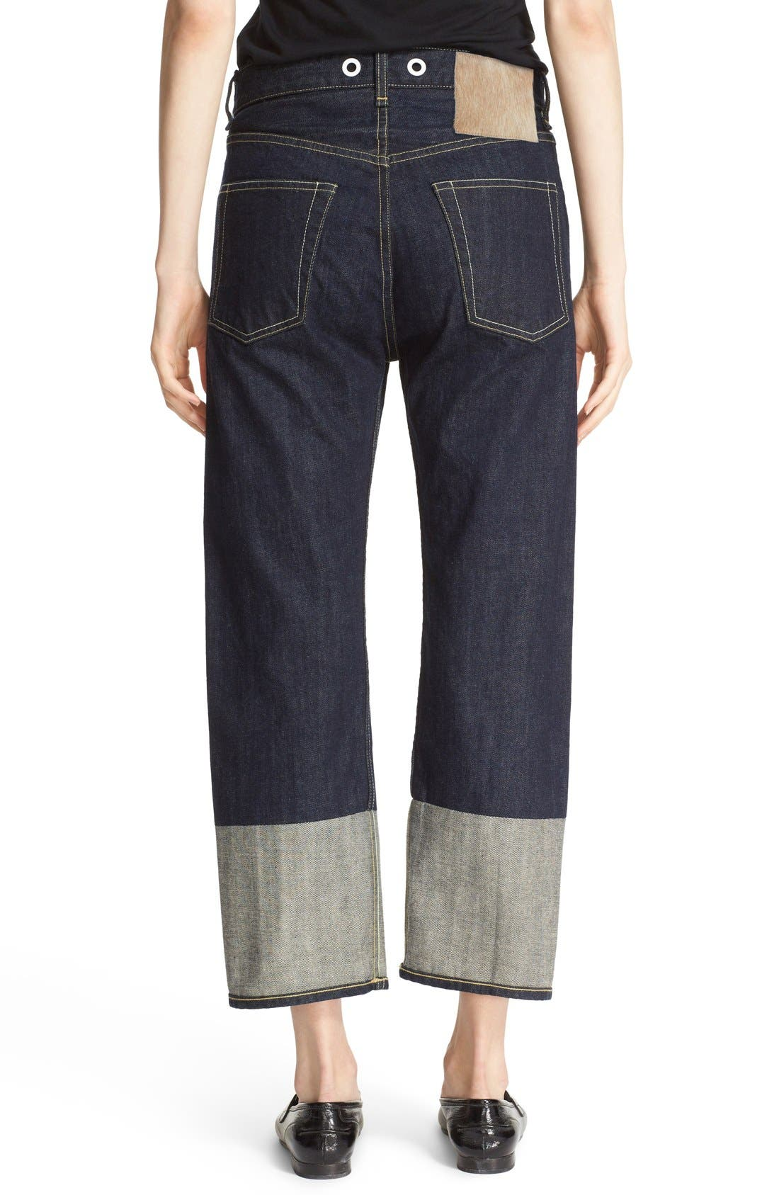 RBW16 High Rise Crop Jeans,                             Alternate thumbnail 2, color,                             470