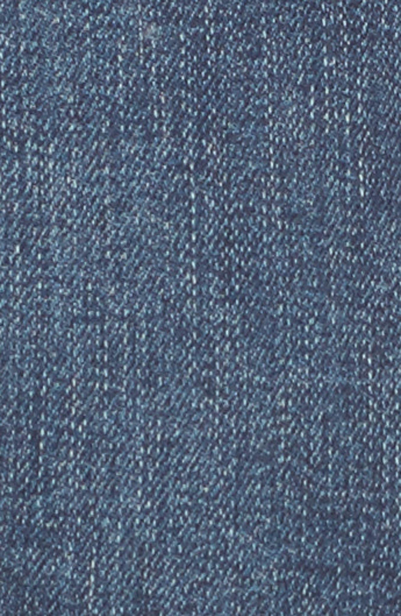 Allie Boyfriend Denim Shorts,                             Alternate thumbnail 5, color,                             400