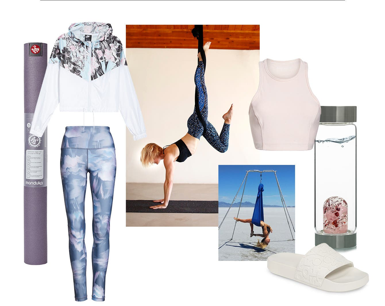 Fitness fix: aerial yoga clothing and gear.
