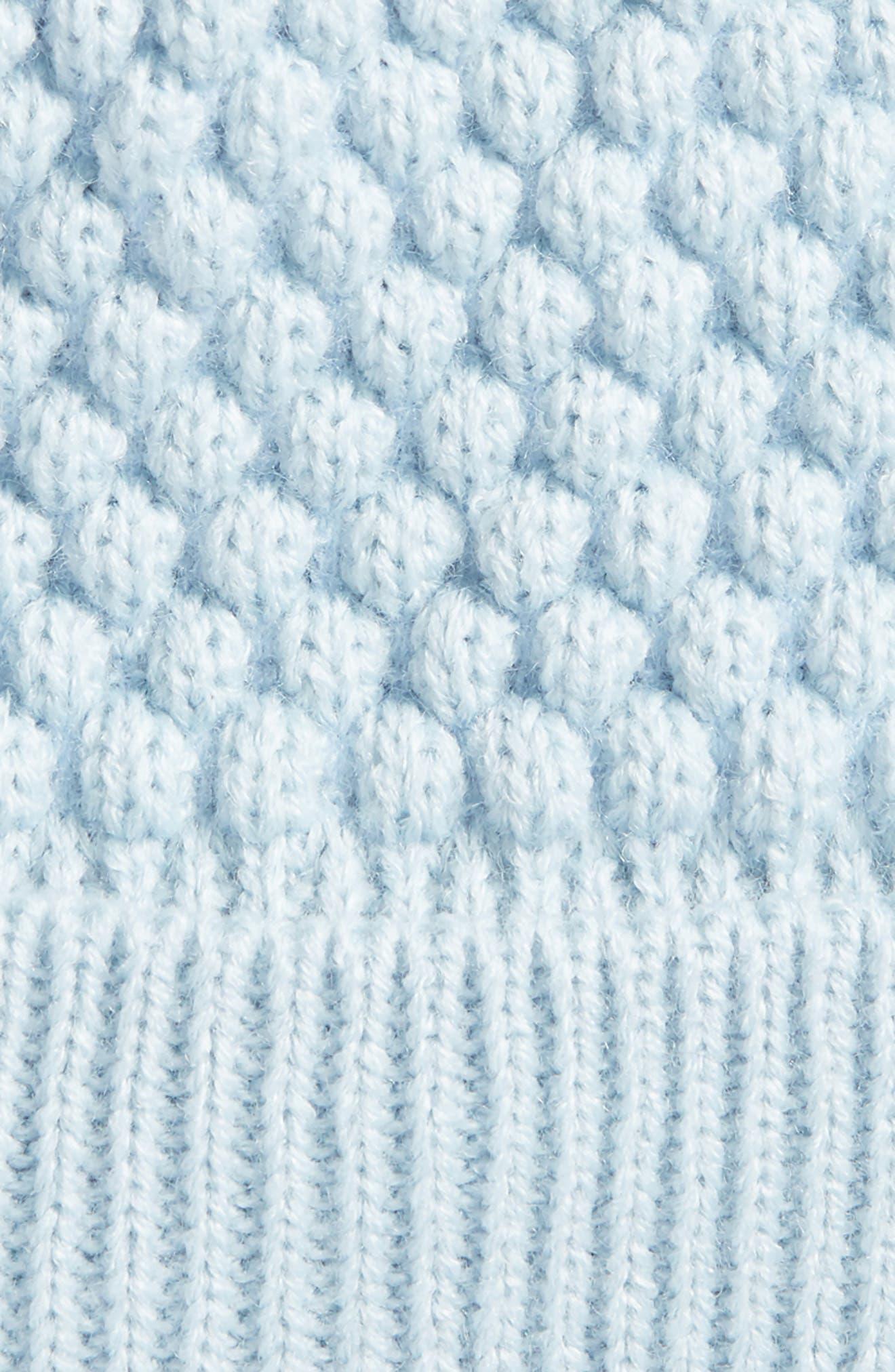 Popcorn Knit Pom Beanie,                             Alternate thumbnail 2, color,                             400