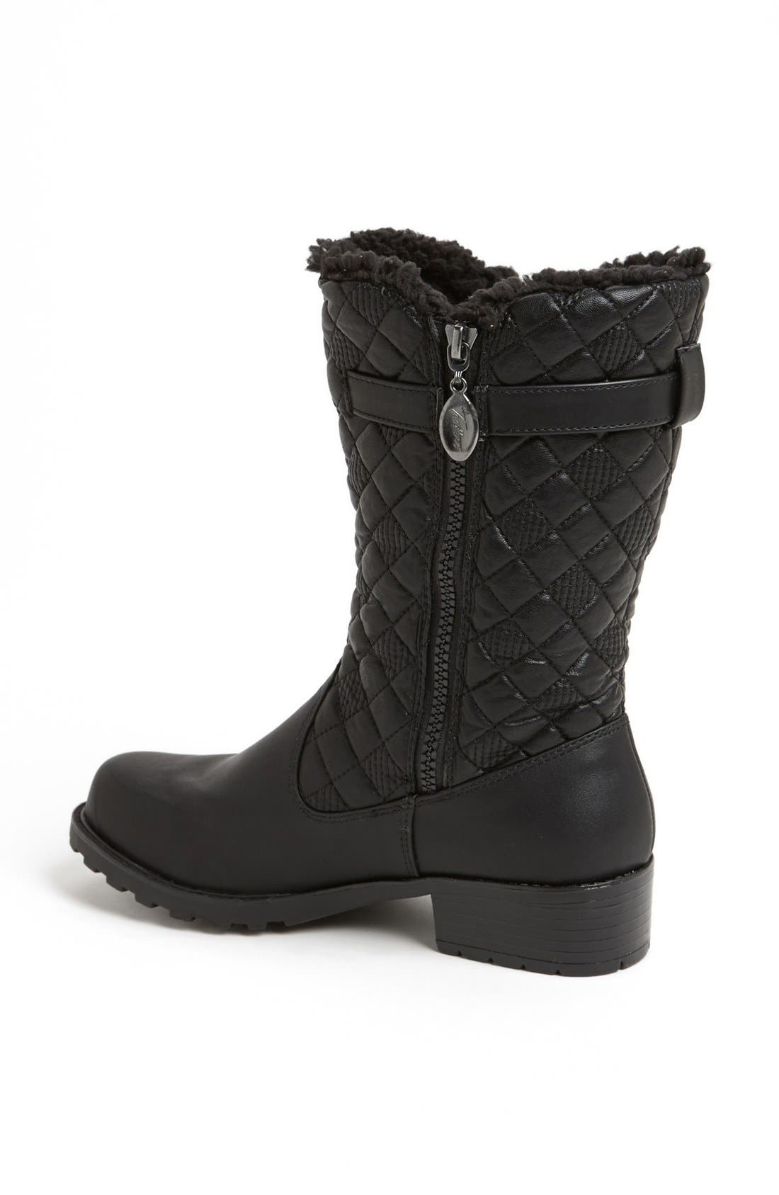 'Blizzard III' Boot,                             Alternate thumbnail 2, color,                             BLACK FAUX LEATHER