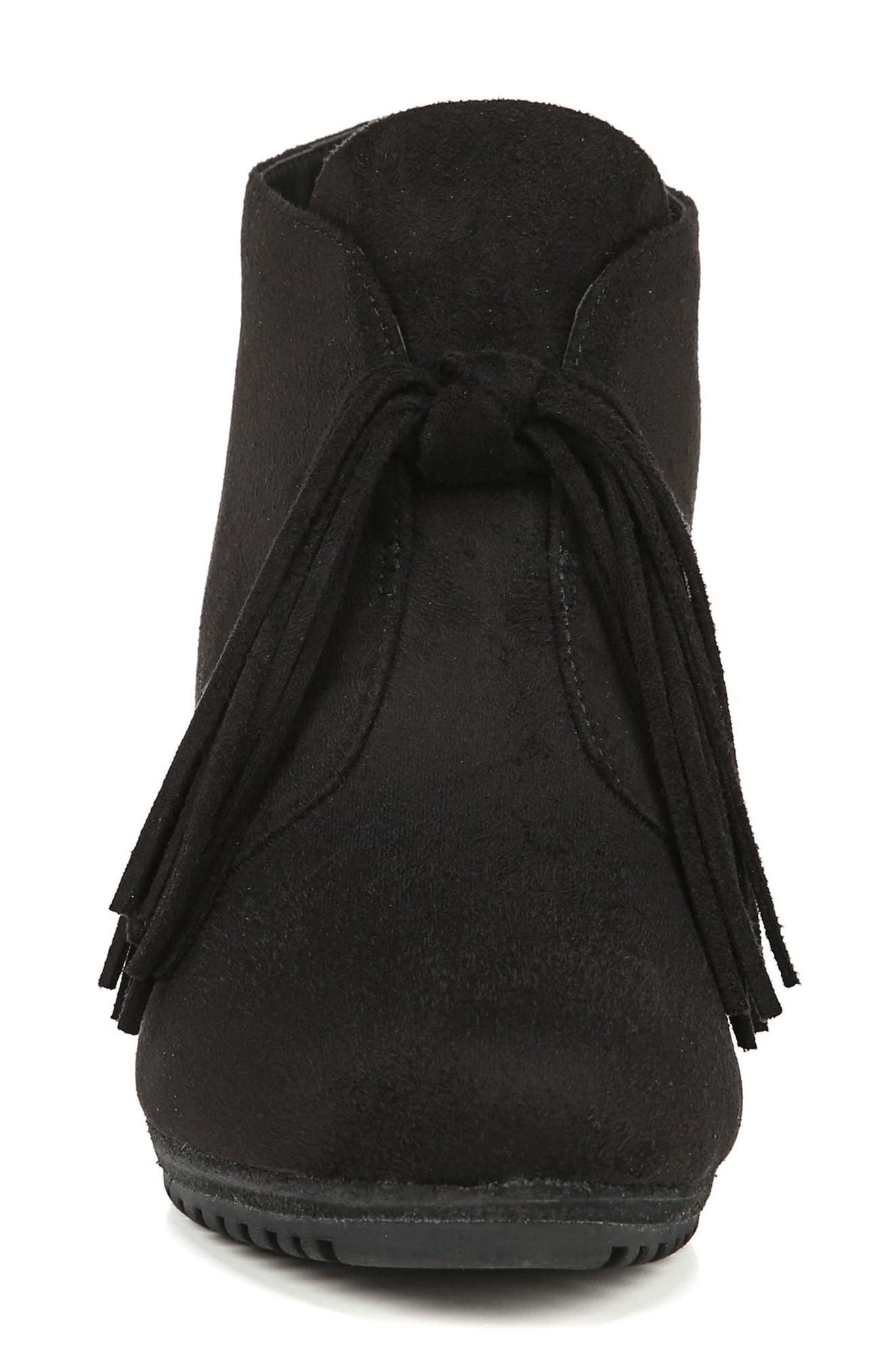 Classify Tassel Wedge Bootie,                             Alternate thumbnail 3, color,                             BLACK FABRIC