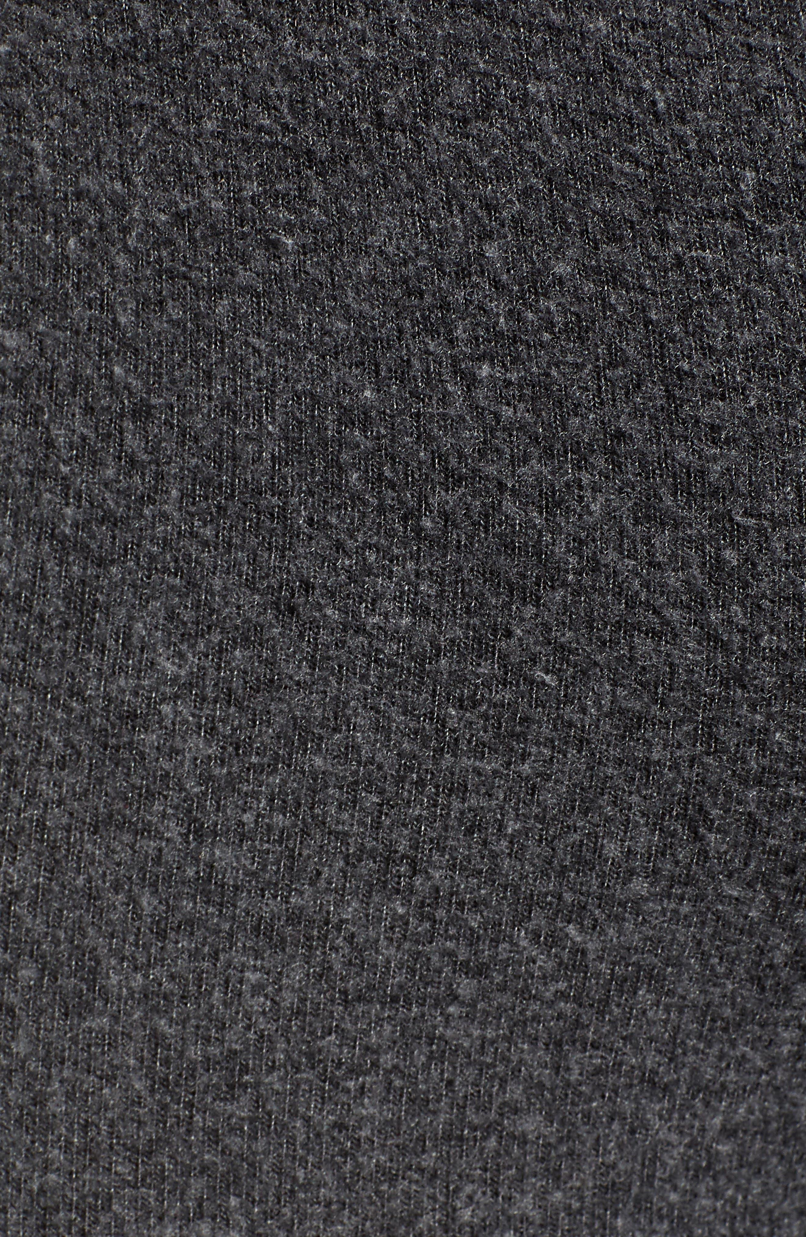 Papillon Tennis Club Fleece Pants,                             Alternate thumbnail 5, color,                             CLEAN BLACK