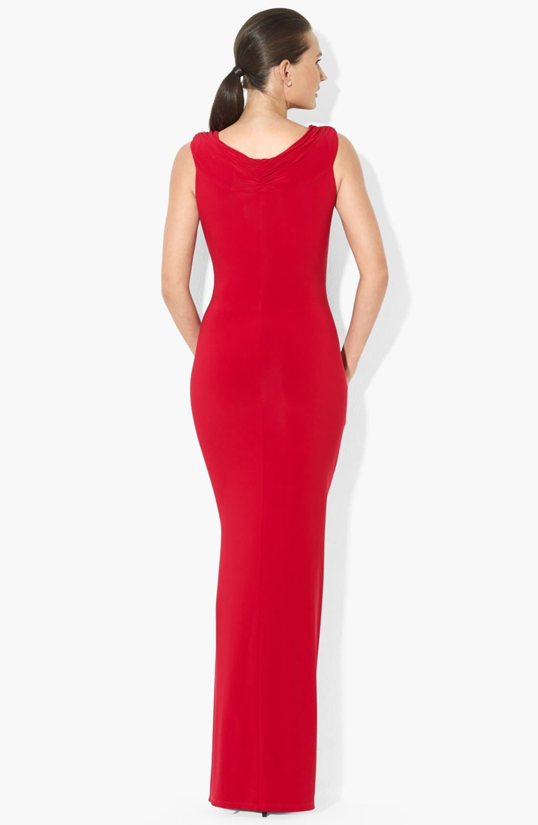 Matte Jersey Gown,                             Alternate thumbnail 2, color,                             601