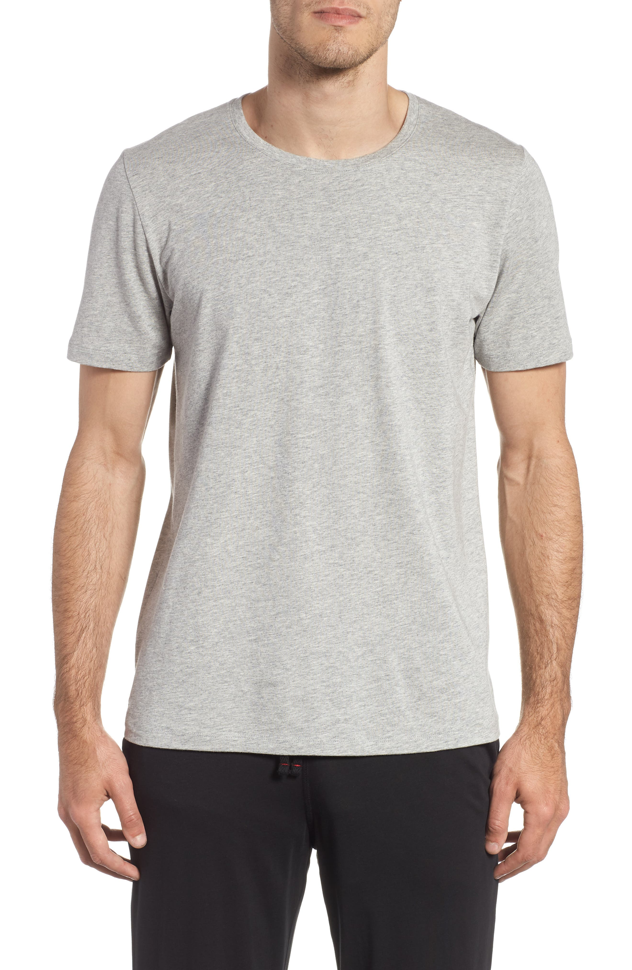 Second Skin Crewneck T-Shirt,                         Main,                         color, HEATHER GREY