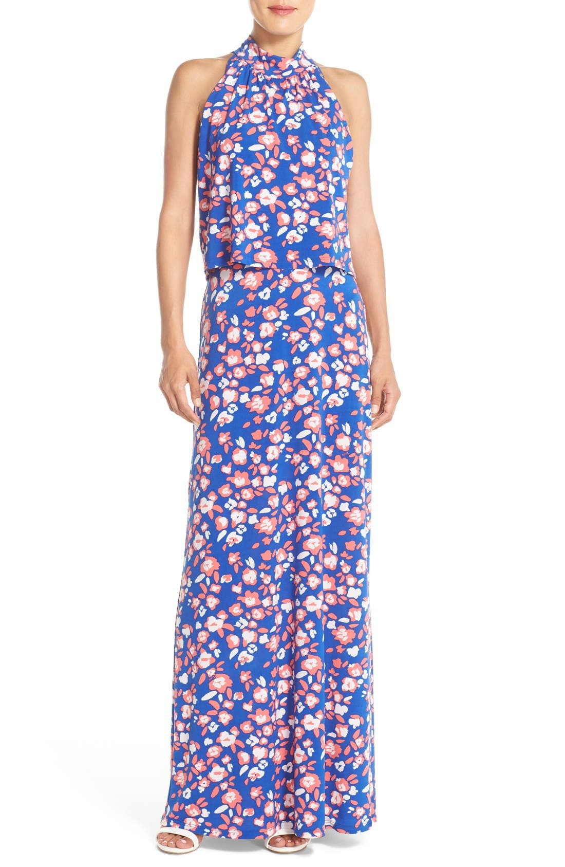 'Syler' Popover Jersey Maxi Dress,                             Main thumbnail 3, color,