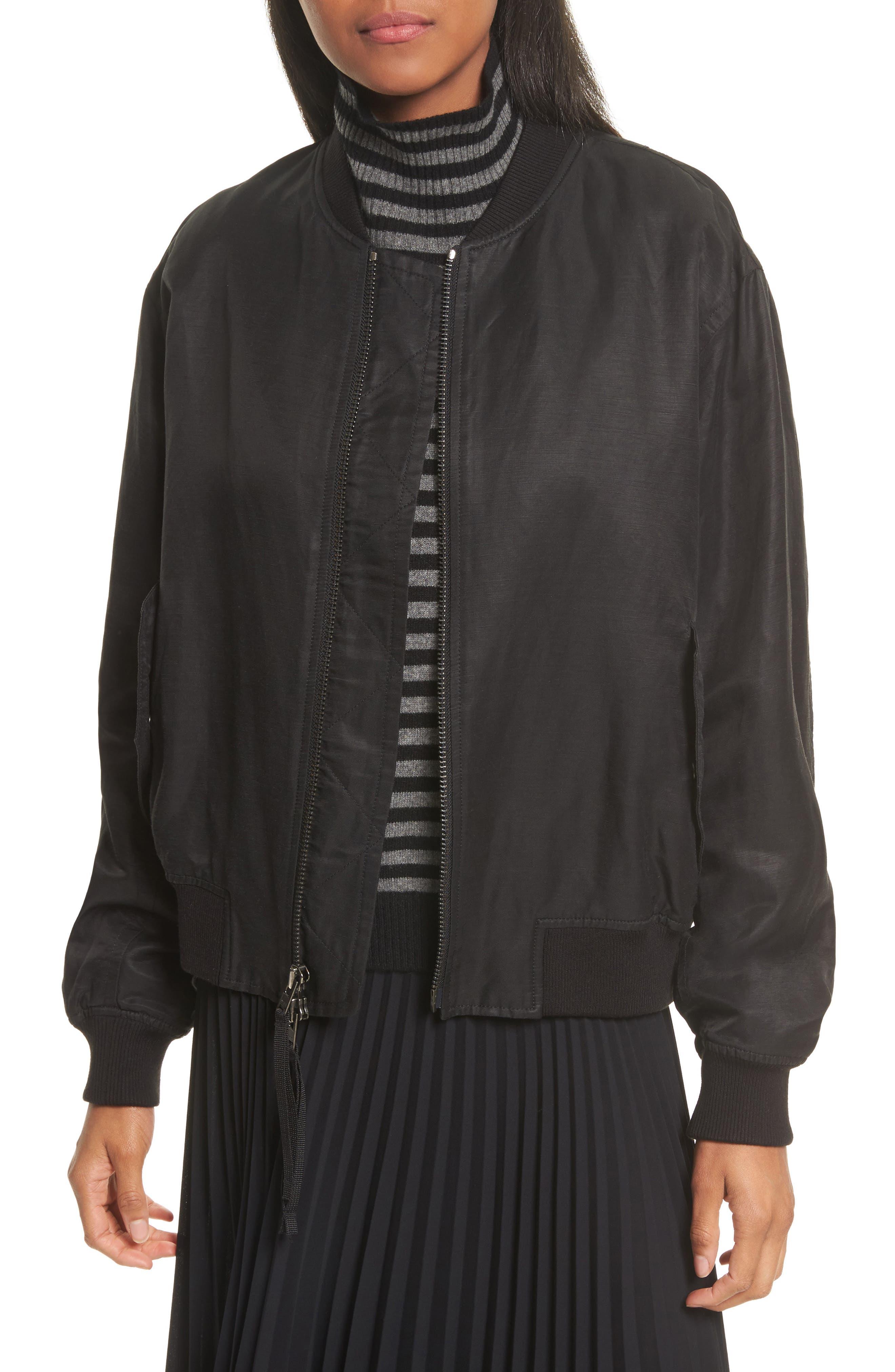 Bomber Jacket,                         Main,                         color, 001