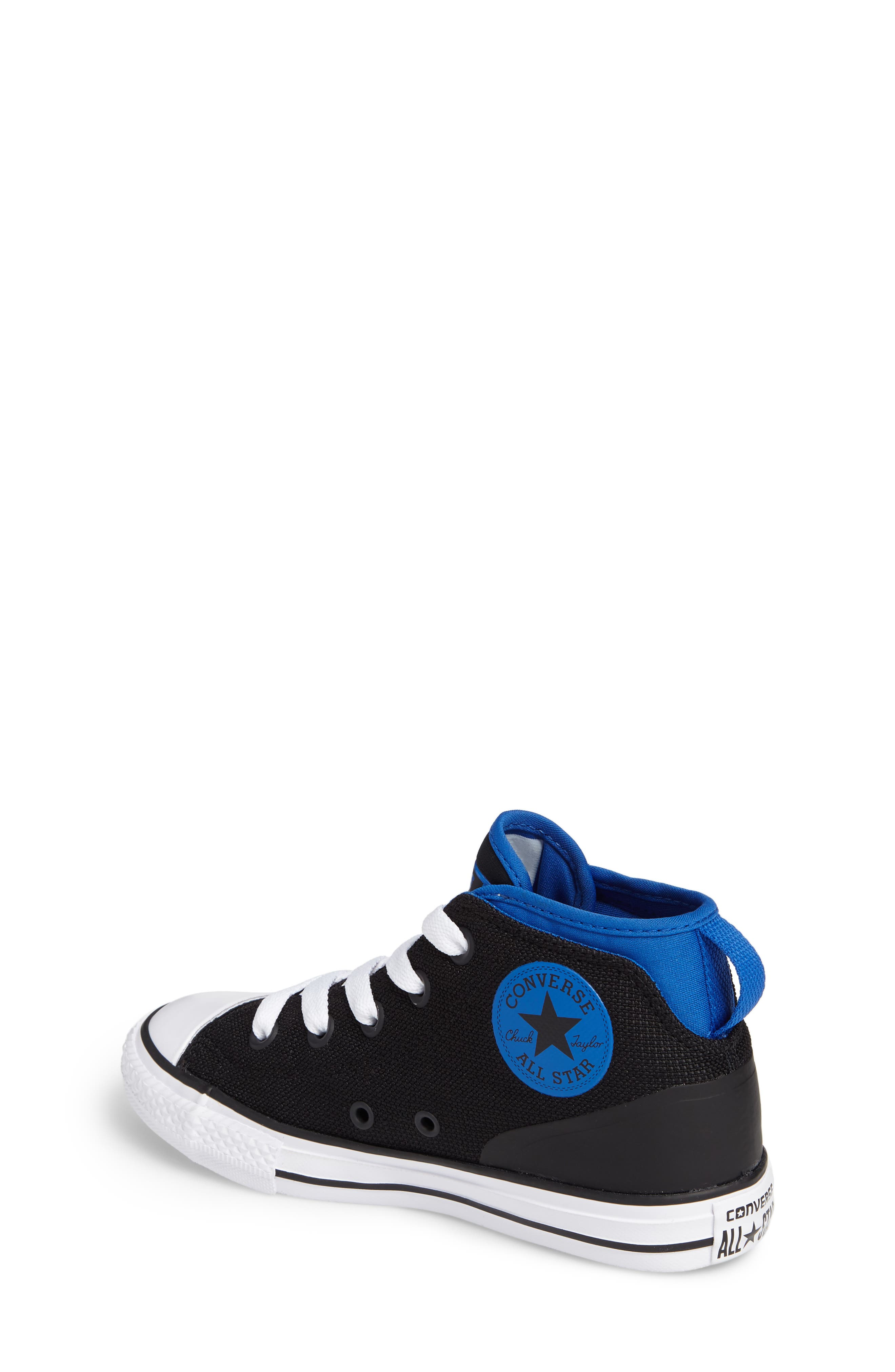 Chuck Taylor<sup>®</sup> All Star<sup>®</sup> Syde Street High Top Sneaker,                             Alternate thumbnail 2, color,                             001