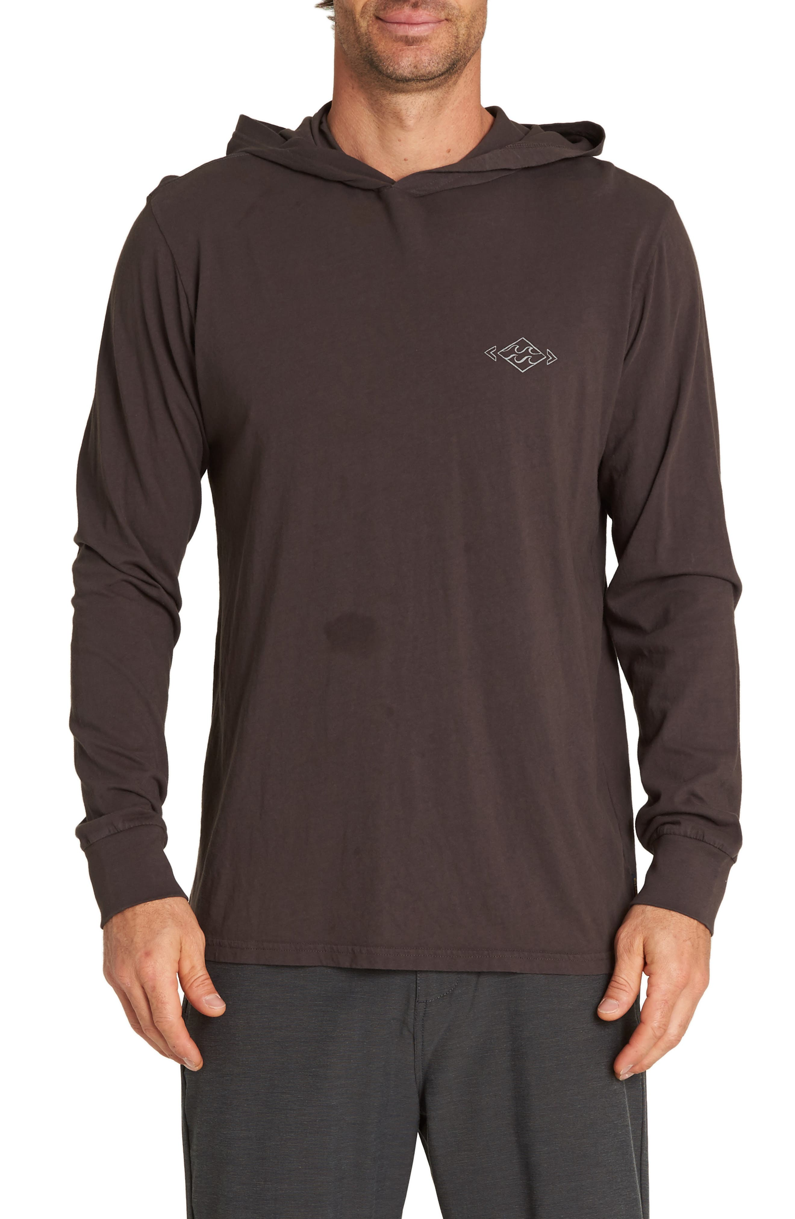 Diamond Hooded T-Shirt,                         Main,                         color, CHAR