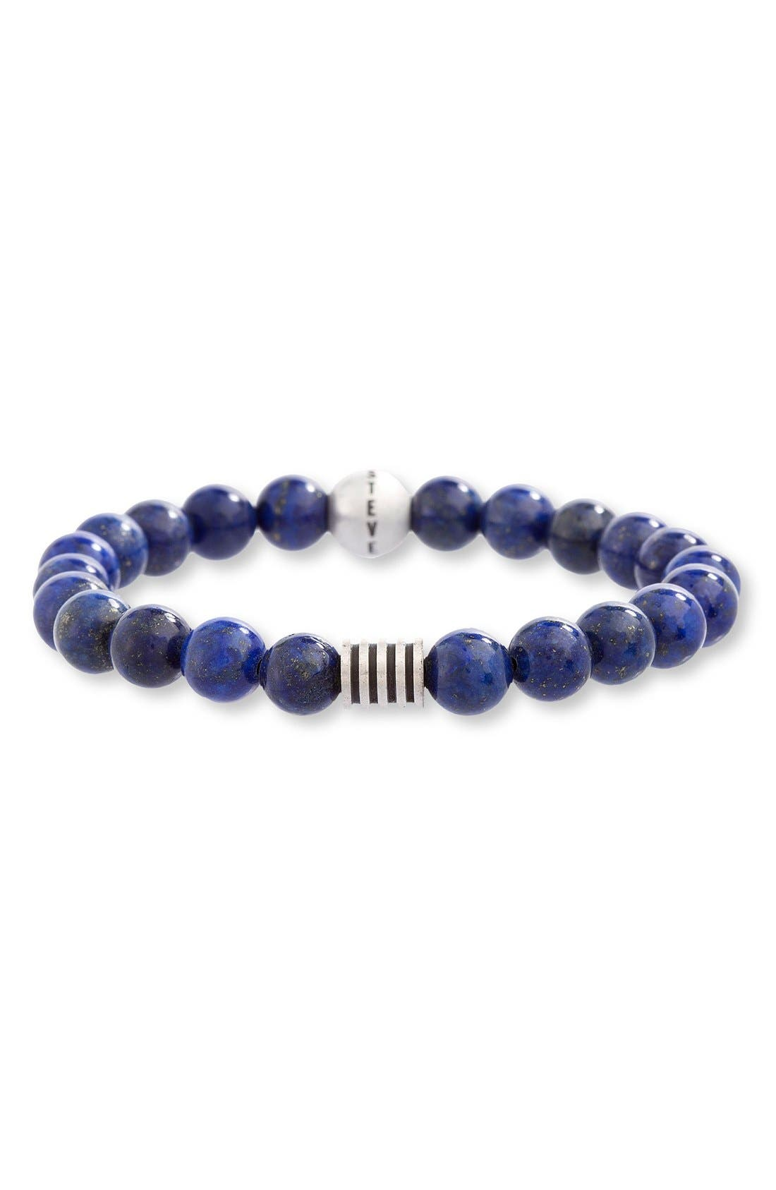 Lapis Lazuli Bead Bracelet,                             Main thumbnail 1, color,