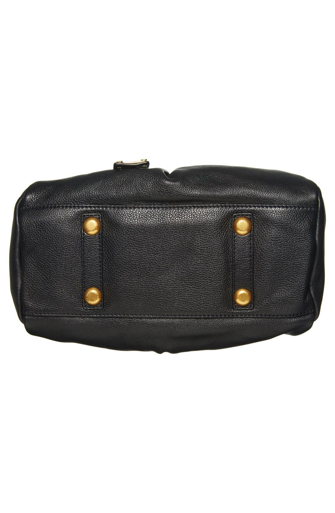 MARC BY MARC JACOBS 'Classic Q - Baby Groovee' Leather Satchel,                             Alternate thumbnail 4, color,                             002