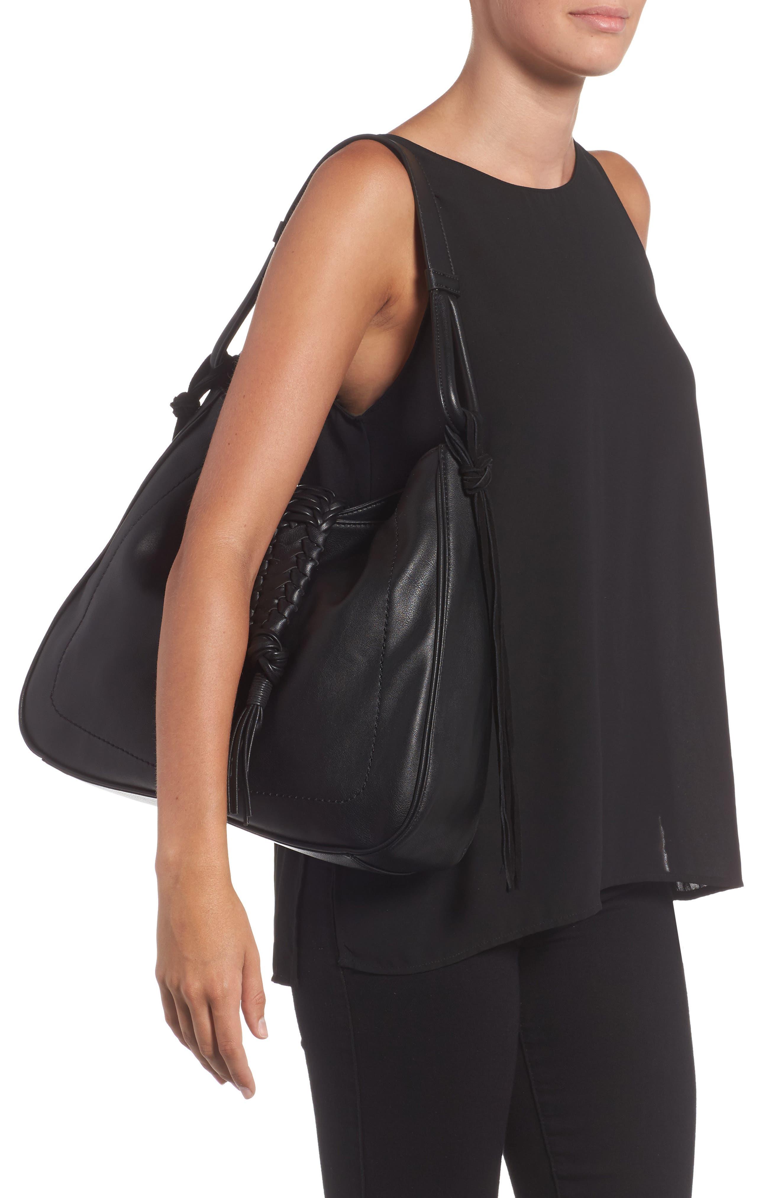 Vale Faux Leather Hobo Bag,                             Alternate thumbnail 2, color,                             001