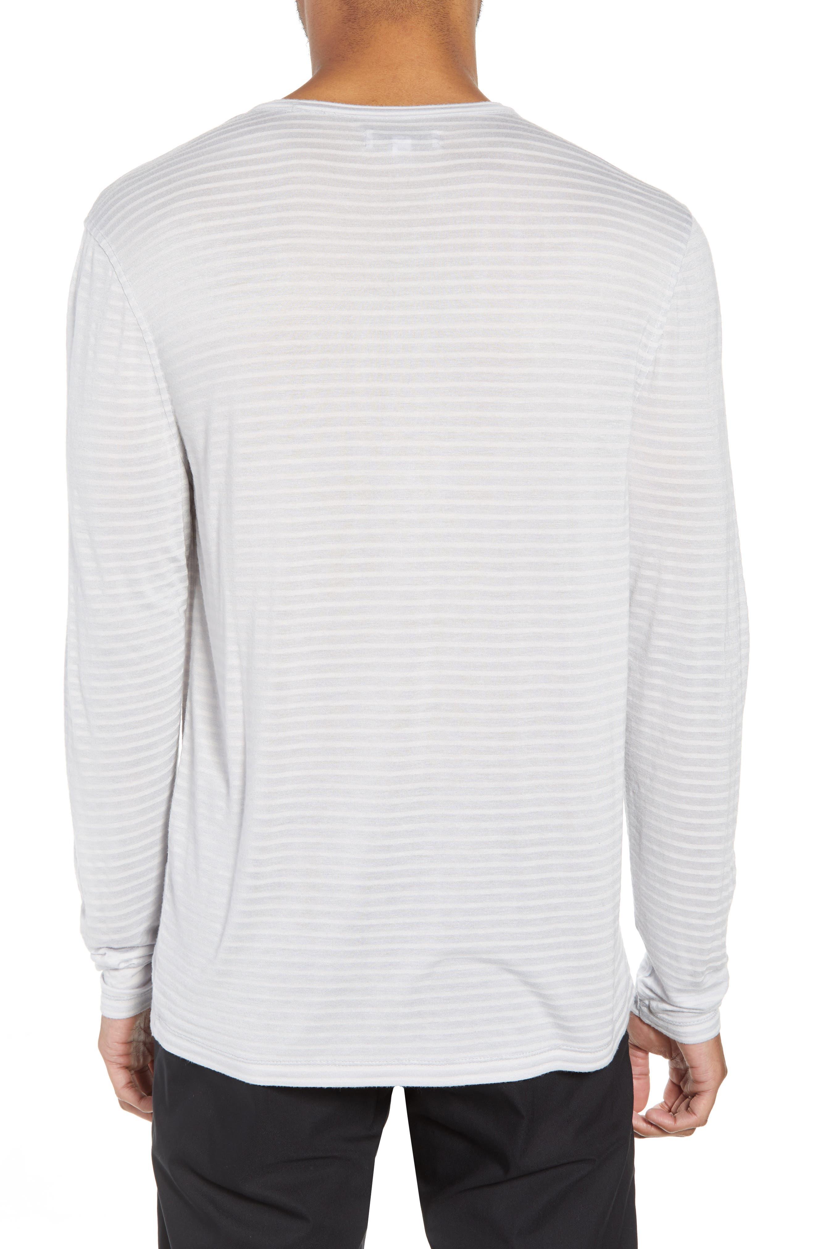 Texture Stripe Long Sleeve T-Shirt,                             Alternate thumbnail 2, color,                             050