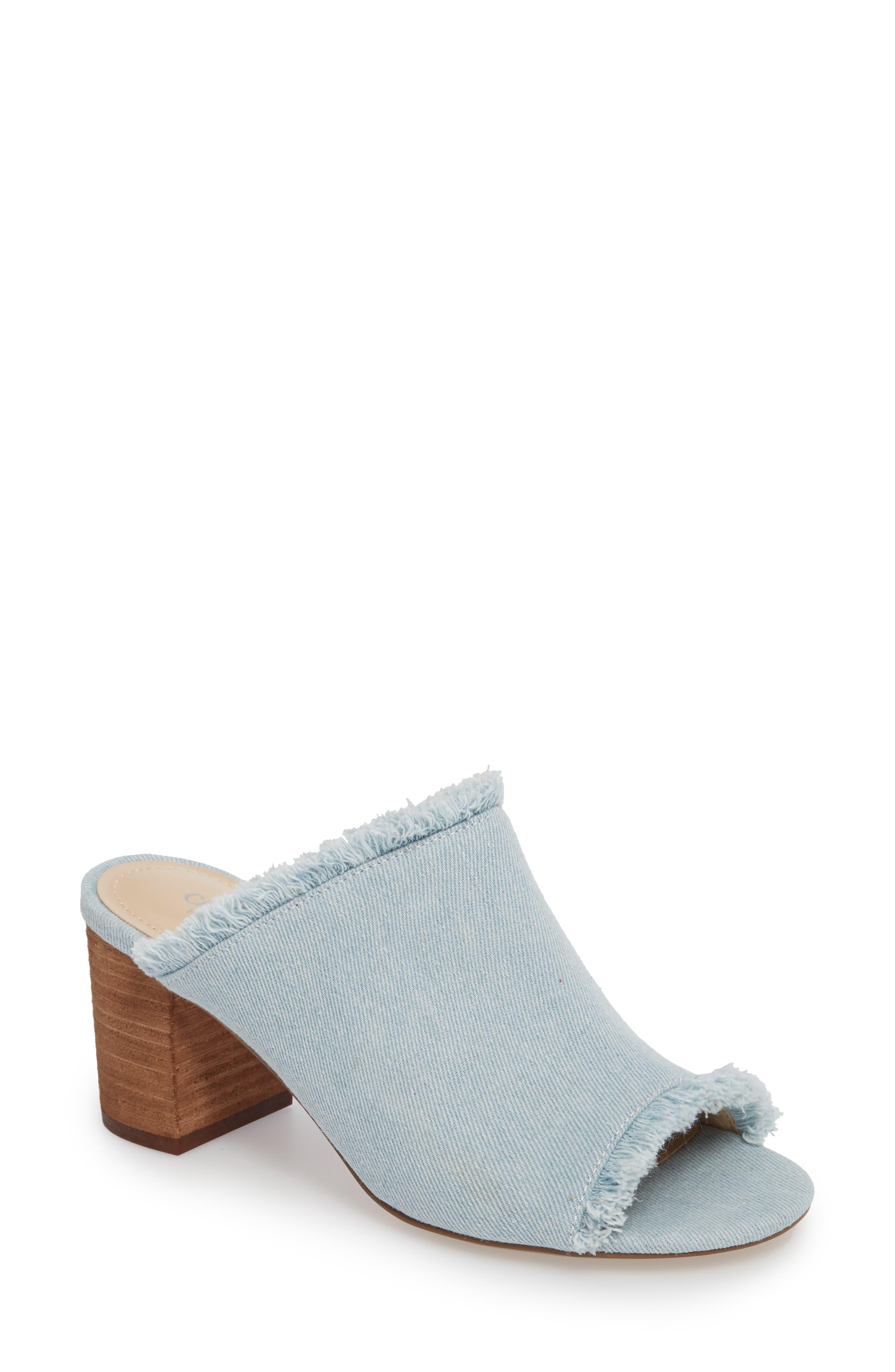 Kadia Fringed Mule Sandal,                             Main thumbnail 3, color,