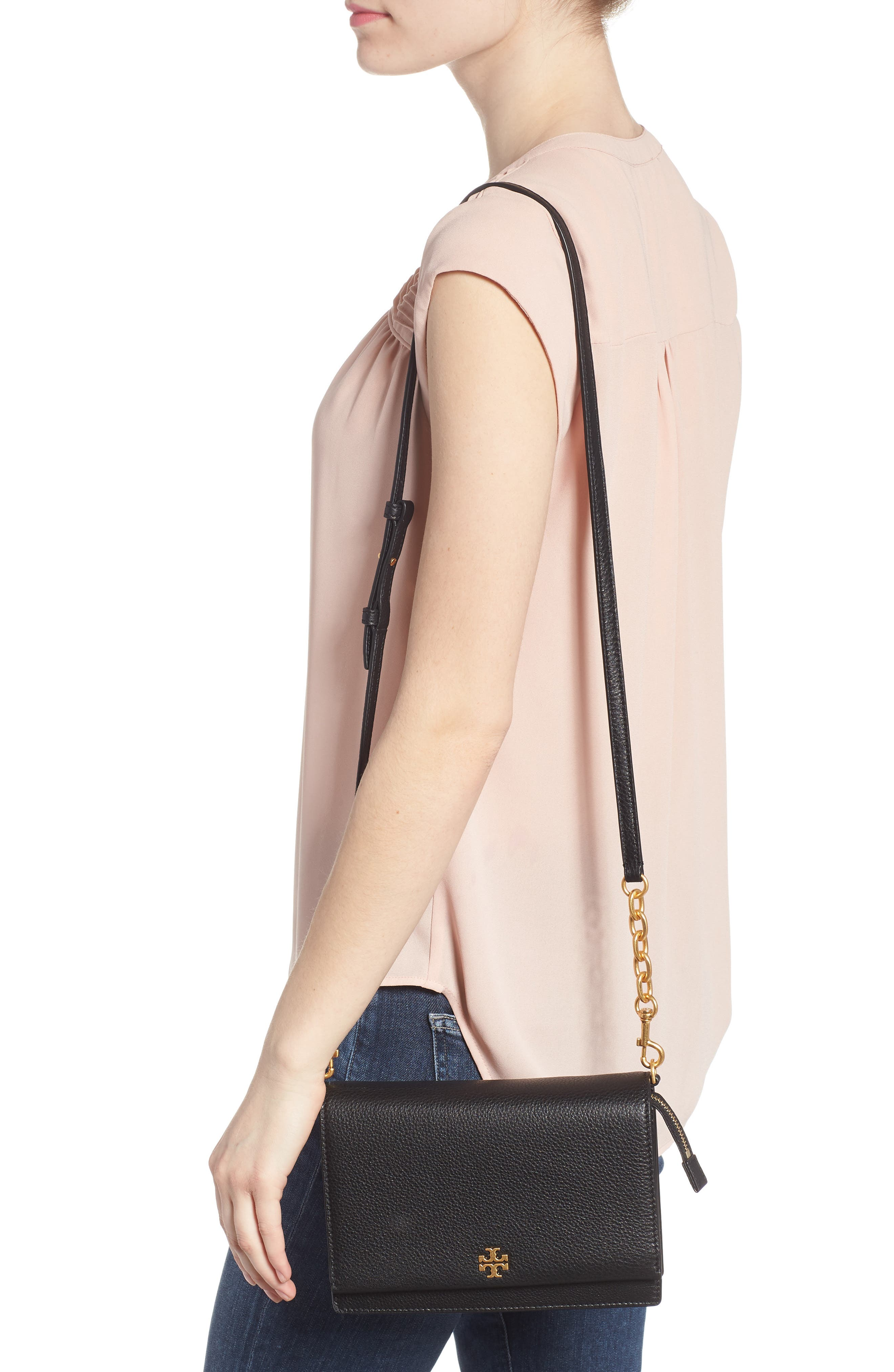 Georgia Pebble Leather Shoulder Bag,                             Alternate thumbnail 2, color,                             001
