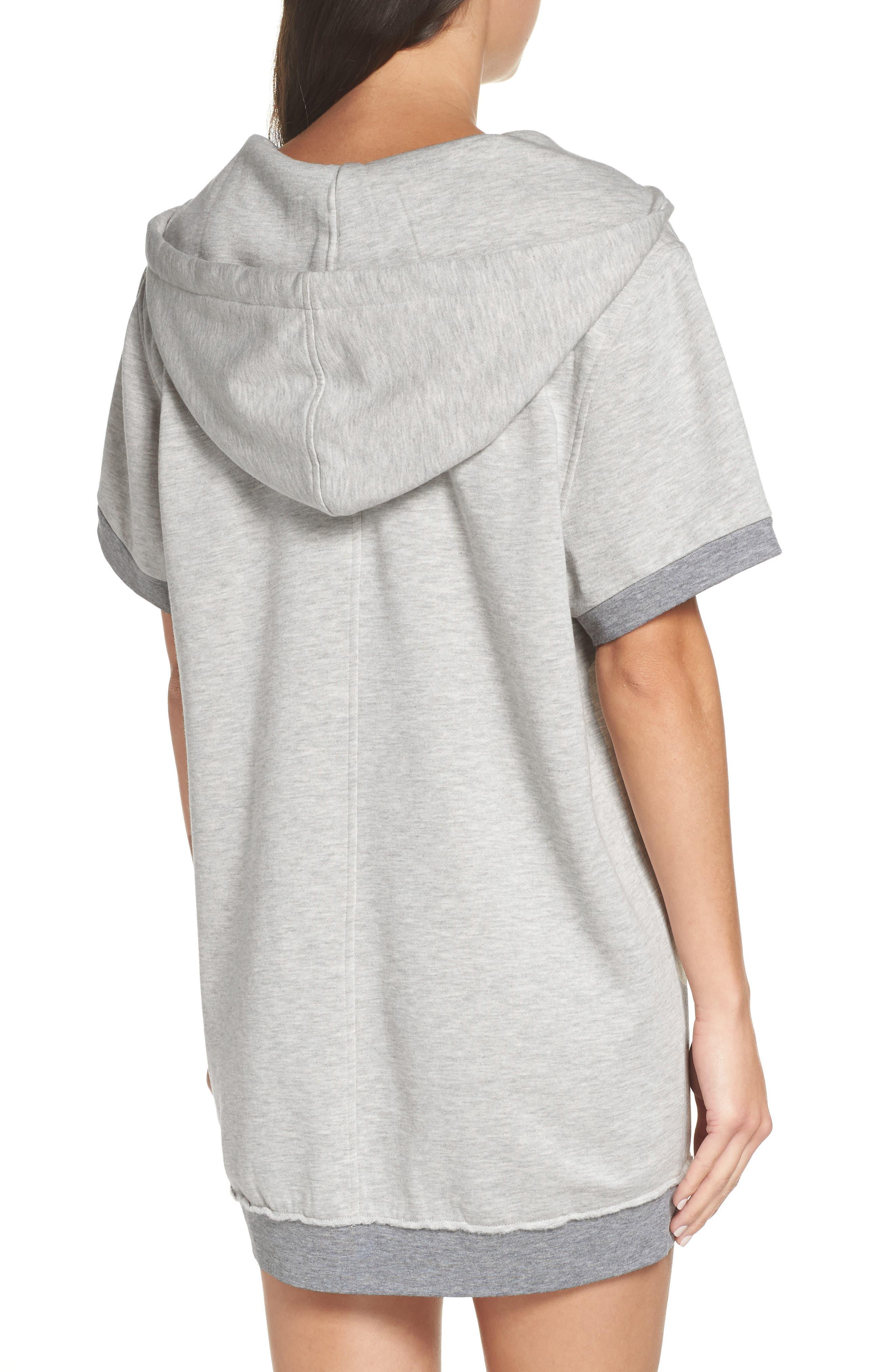 Venice Hooded Lounge Dress,                             Alternate thumbnail 2, color,                             PEBBLE HEATHER
