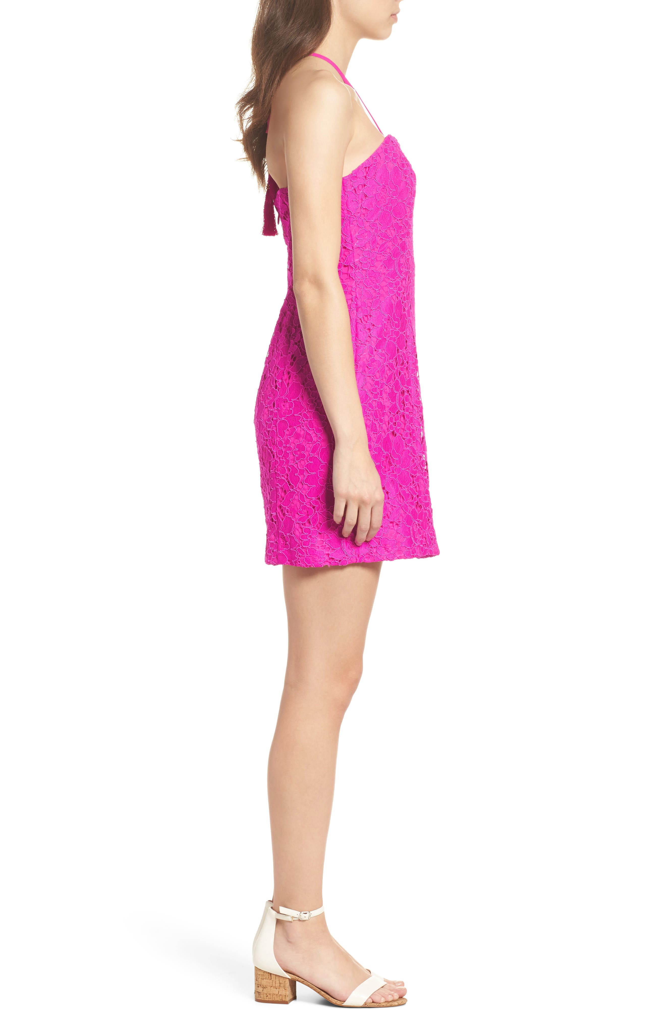 Demi Lace Dress,                             Alternate thumbnail 4, color,                             650