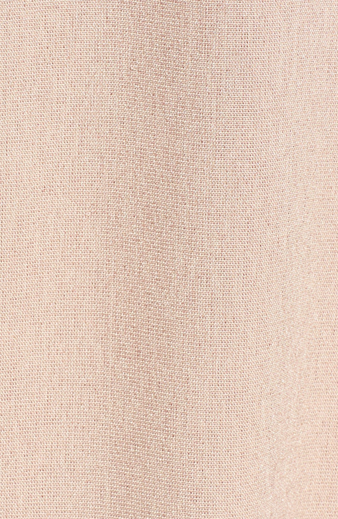Pompom Trim Lace-Up Side Top,                             Alternate thumbnail 5, color,                             655