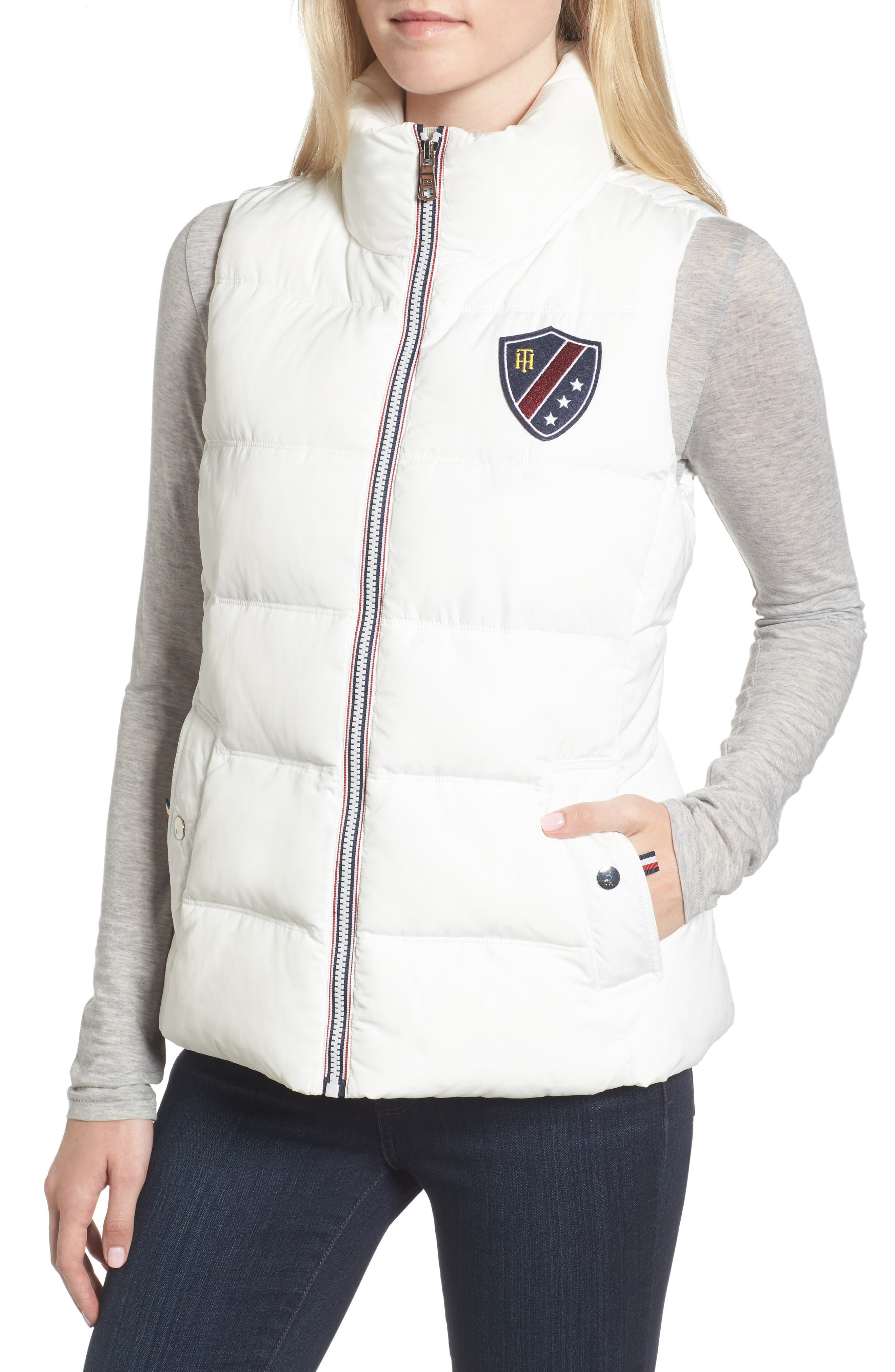 Quilted Puffer Vest,                             Alternate thumbnail 4, color,                             100