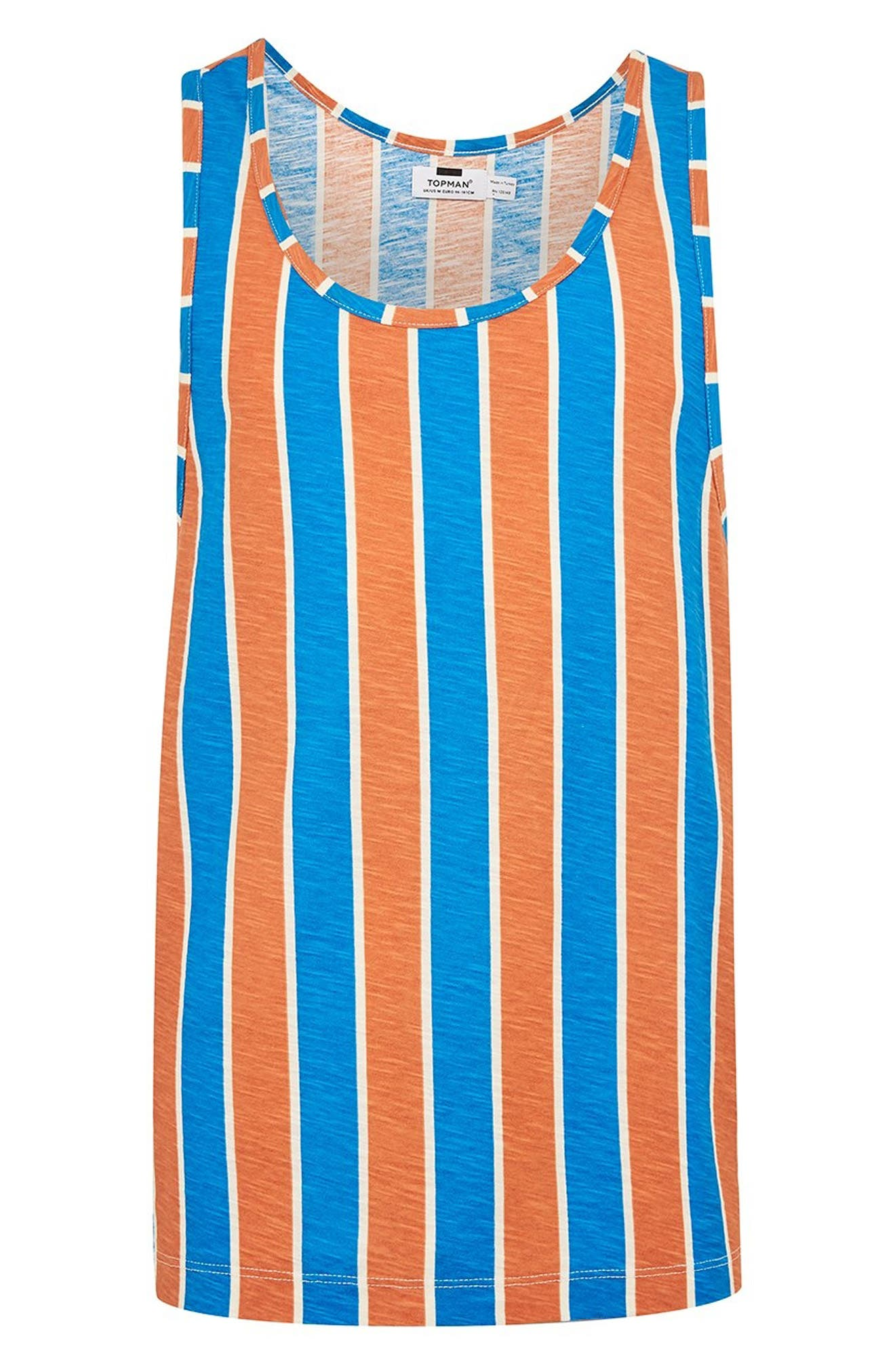 Vertical Stripe Tank,                             Alternate thumbnail 4, color,                             ORANGE MULTI