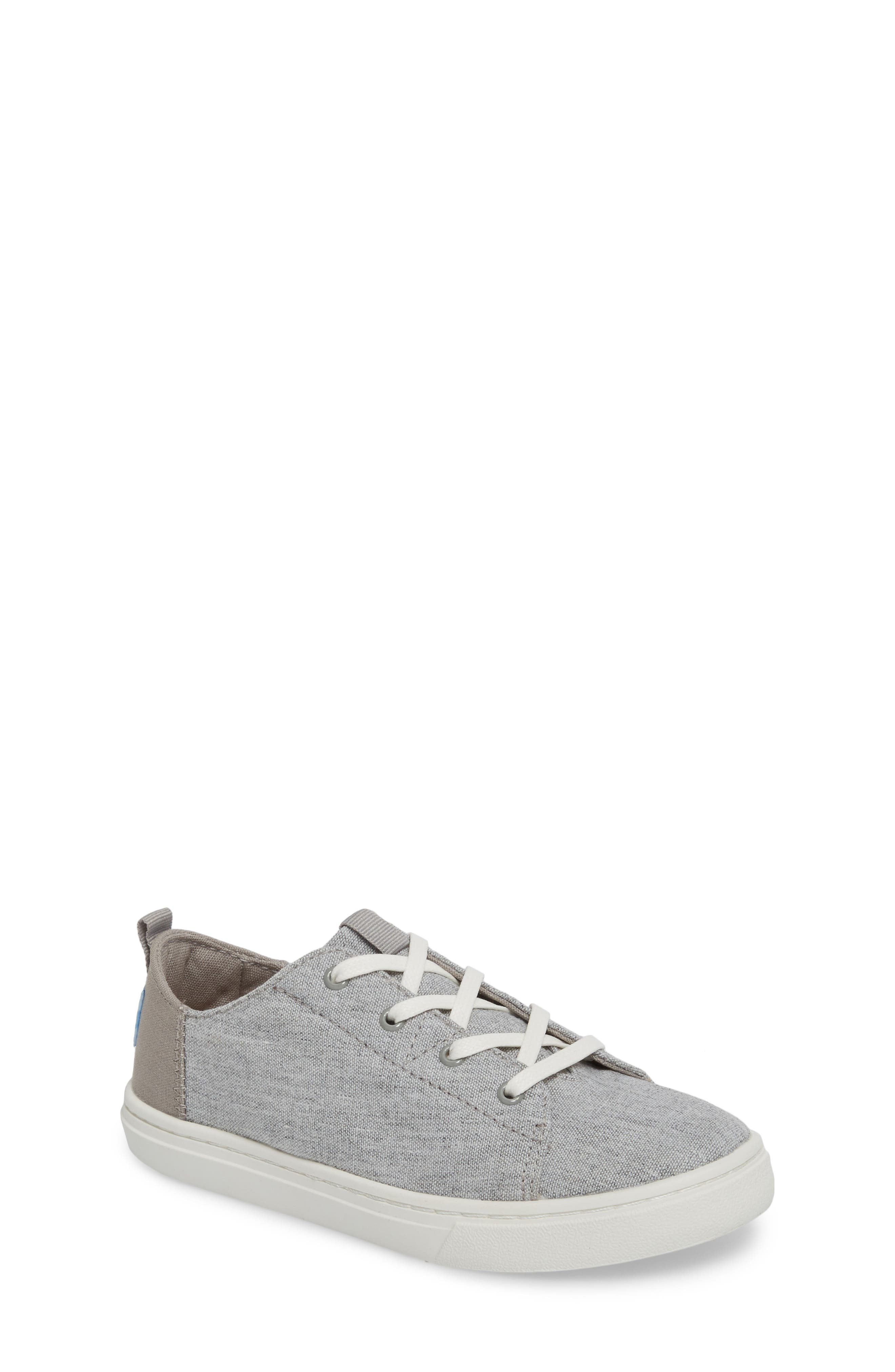 Lenny Sneaker,                         Main,                         color, DRIZZLE GREY SLUB CHAMBRAY