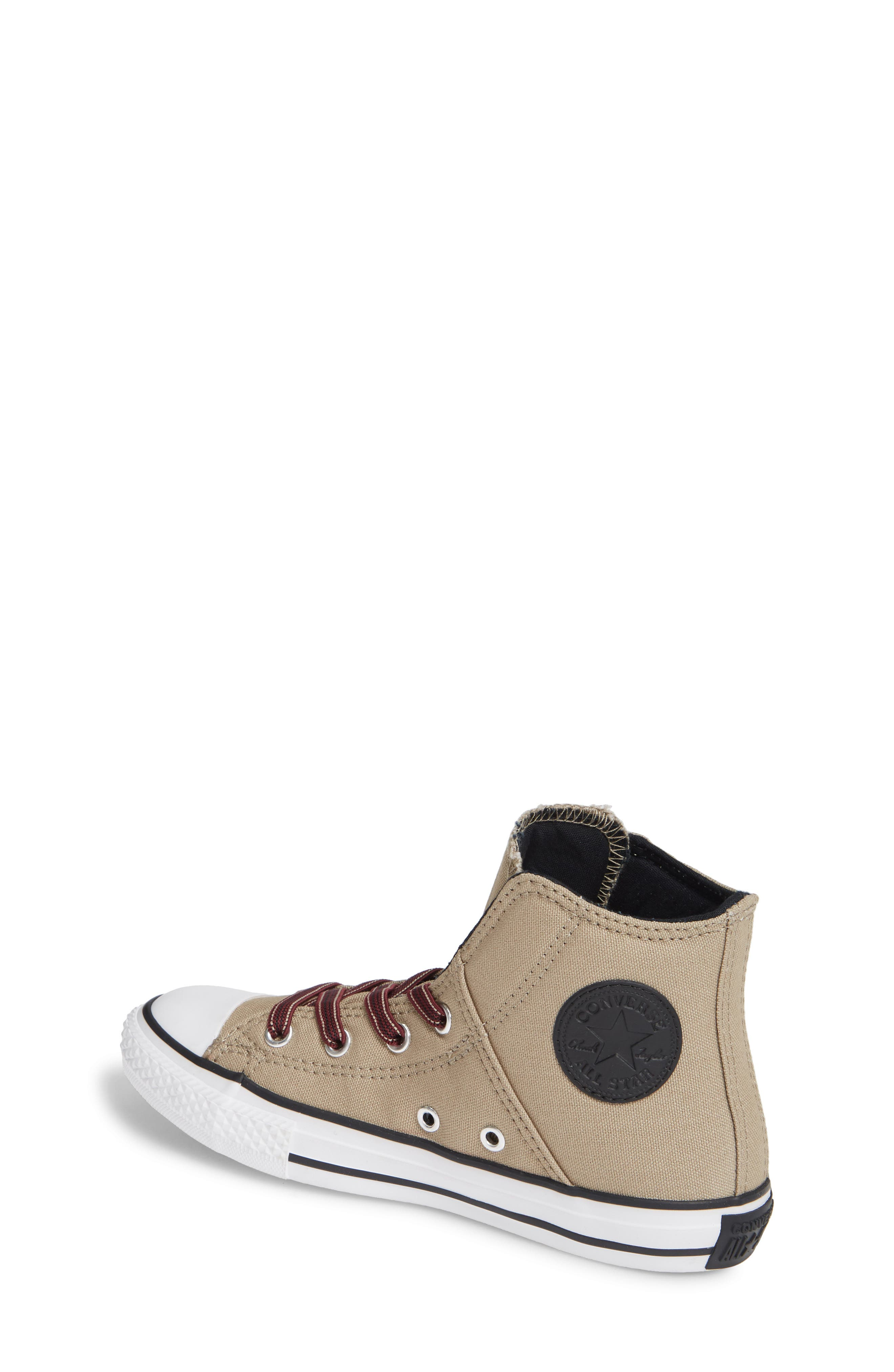Chuck Taylor<sup>®</sup> All Star<sup>®</sup> Pull Zip High Top Sneaker,                             Alternate thumbnail 2, color,                             KHAKI