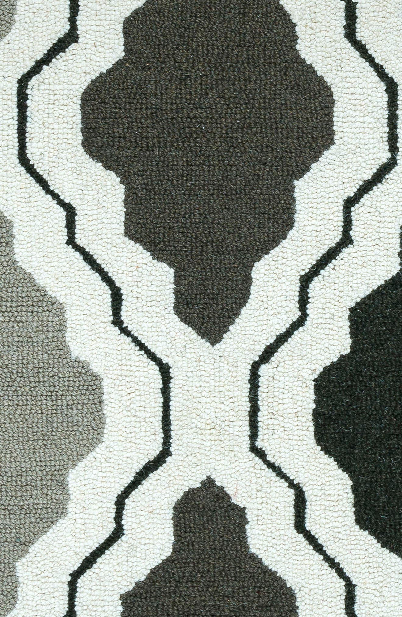 'Ogee' Wool Area Rug,                             Alternate thumbnail 5, color,                             030