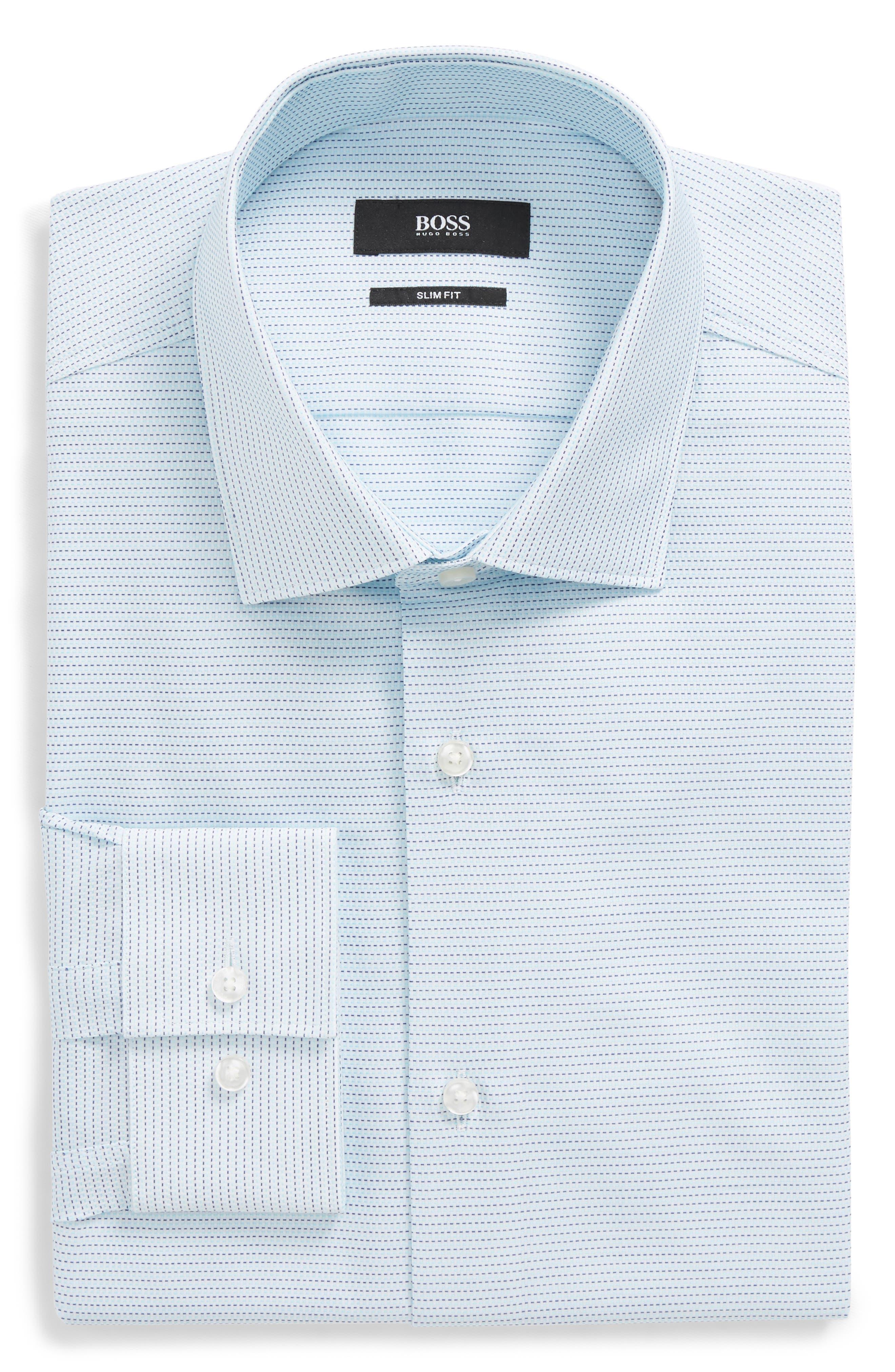 Ismo Slim Fit Solid Dress Shirt,                             Main thumbnail 1, color,                             435