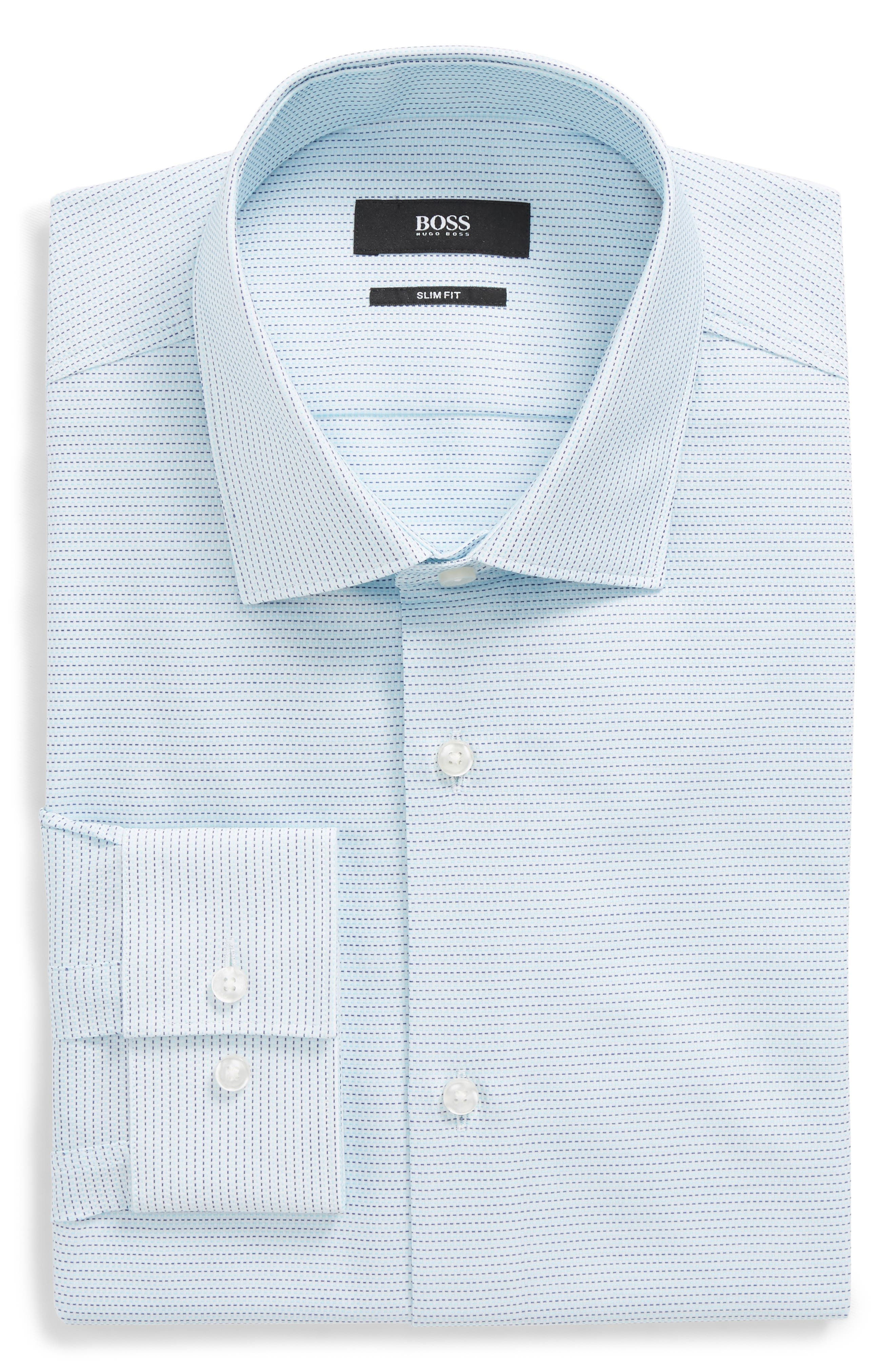 Ismo Slim Fit Solid Dress Shirt,                         Main,                         color, 435