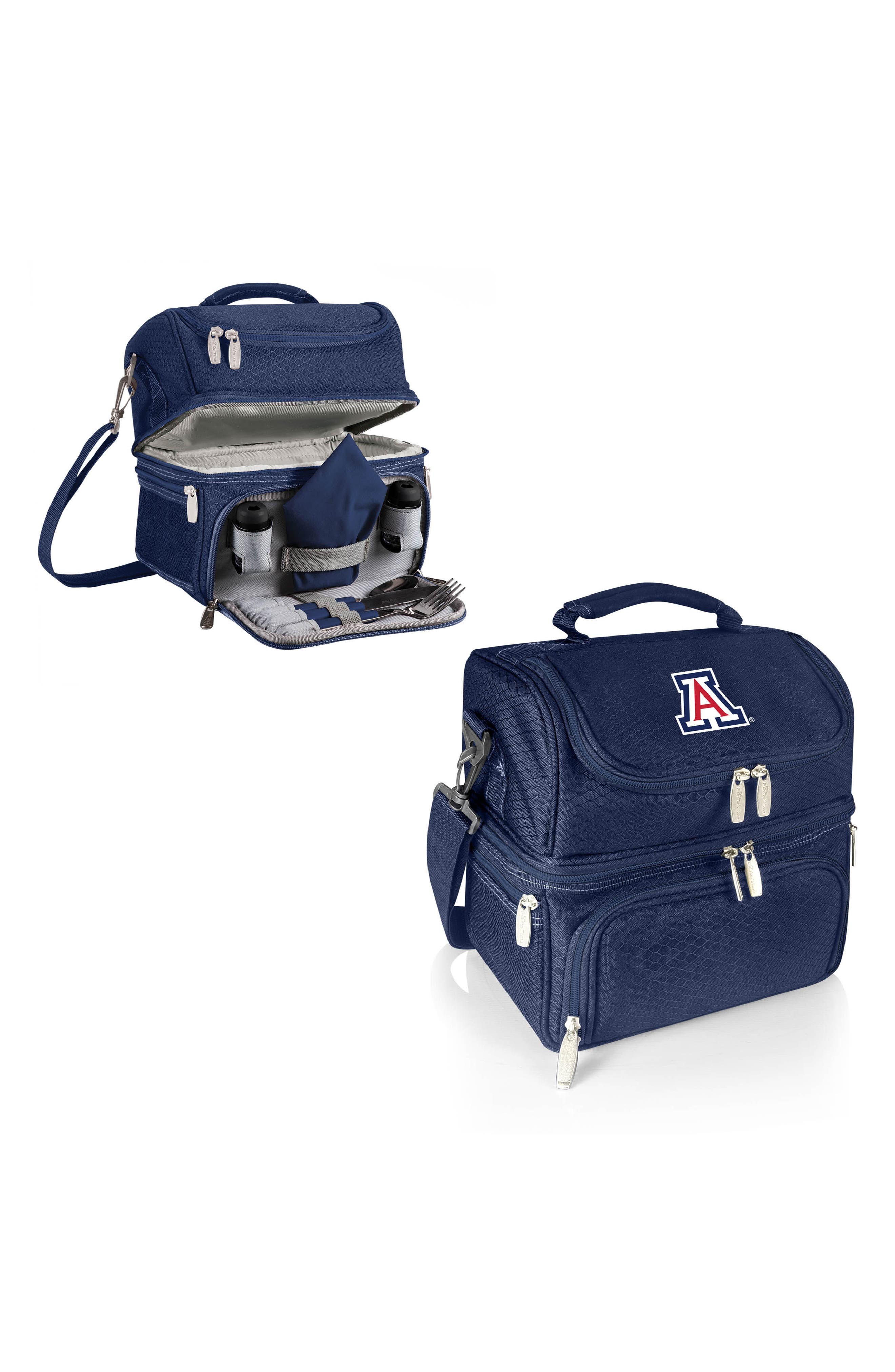Navy Pranzo College Team Logo Lunch Tote,                             Alternate thumbnail 2, color,                             400
