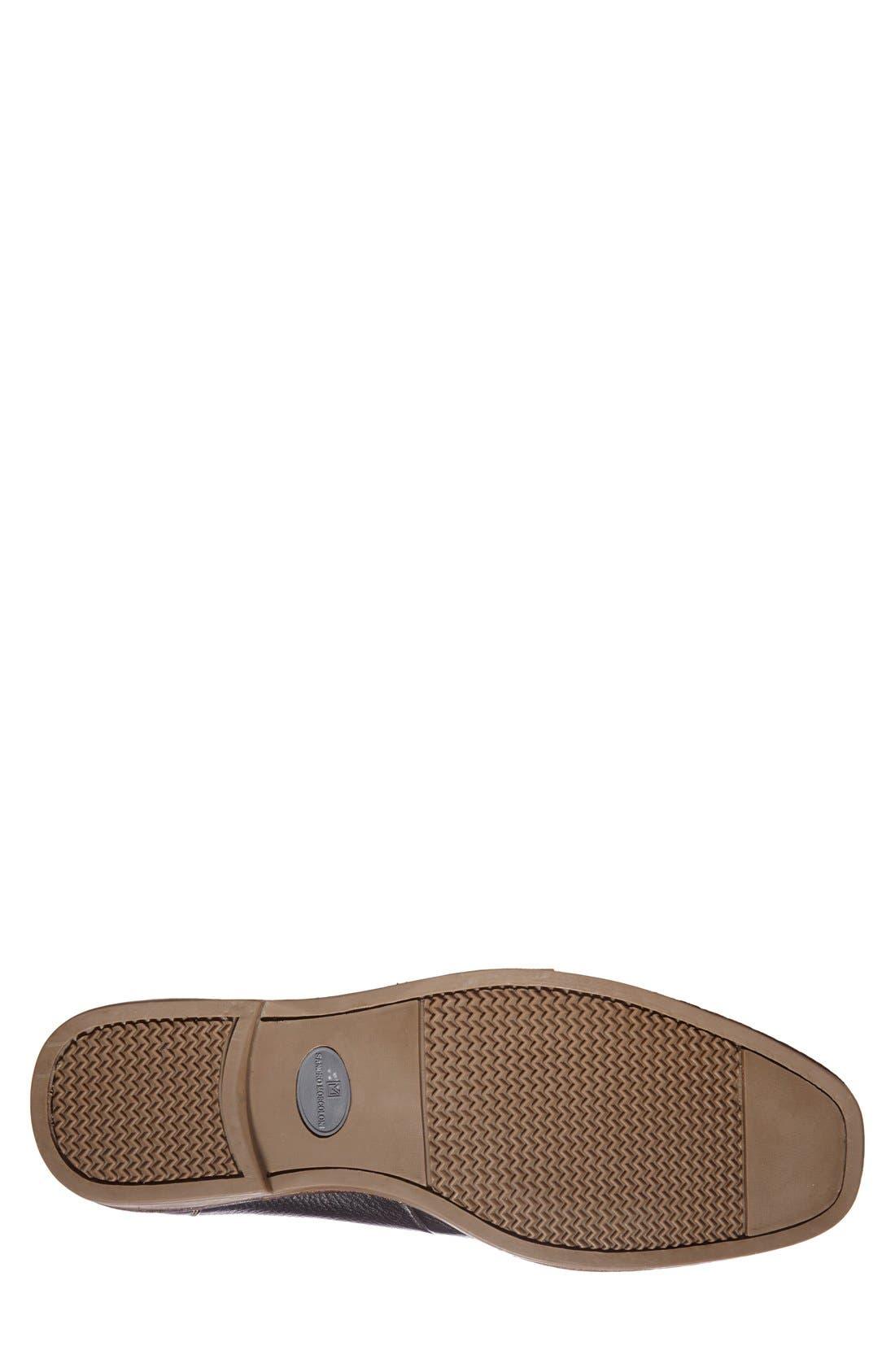 'Easy' Leather Venetian Loafer,                             Alternate thumbnail 4, color,                             NAVY