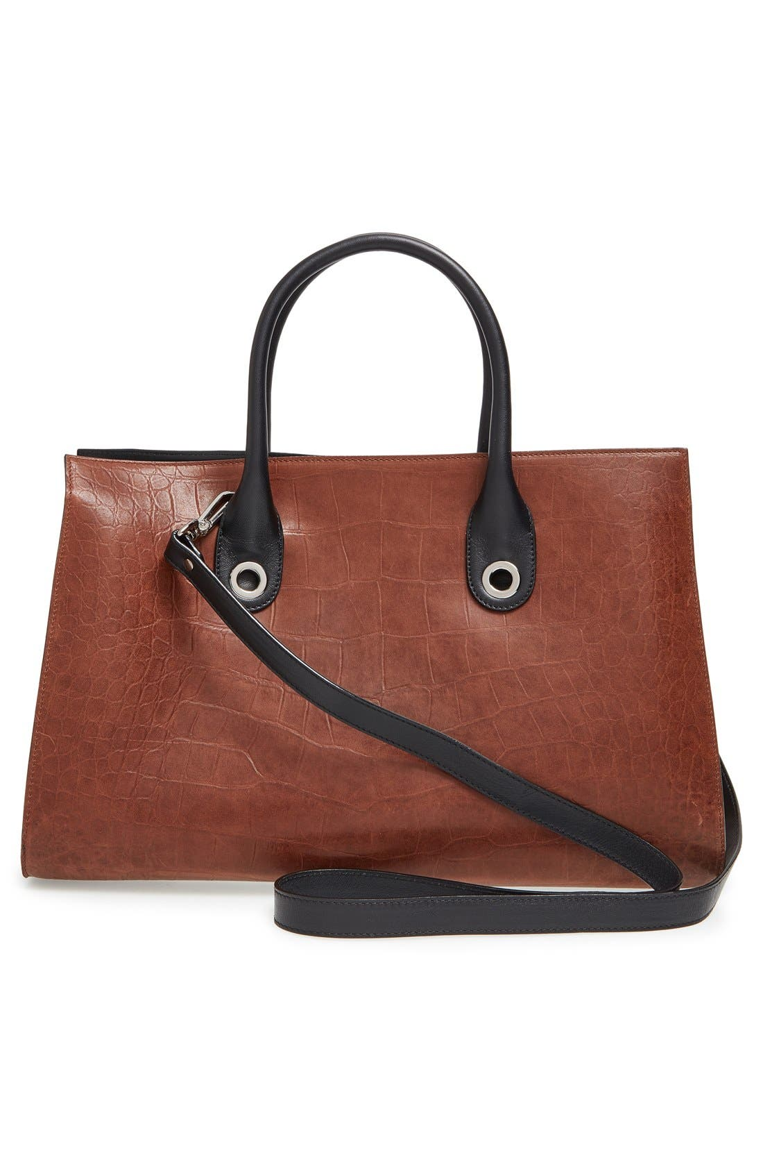 'Riley' Leather Tote,                             Alternate thumbnail 14, color,