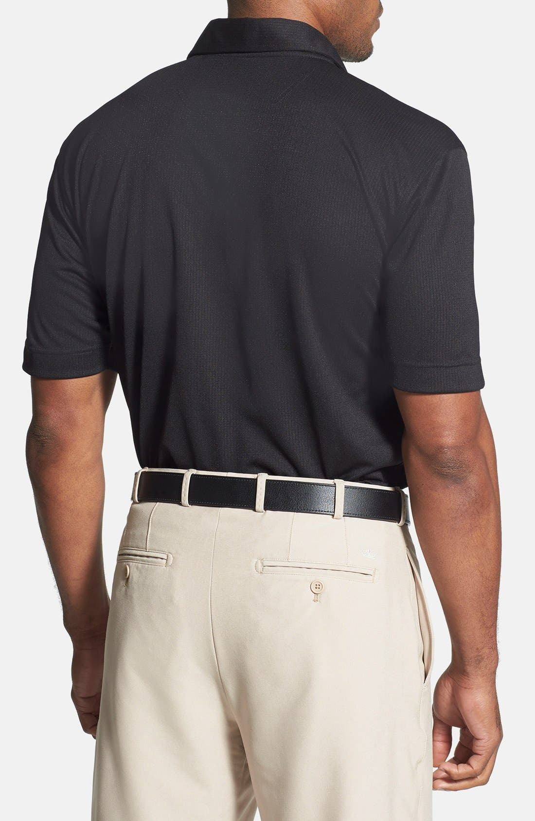 'Genre' DryTec Moisture Wicking Polo,                             Alternate thumbnail 2, color,                             BLACK