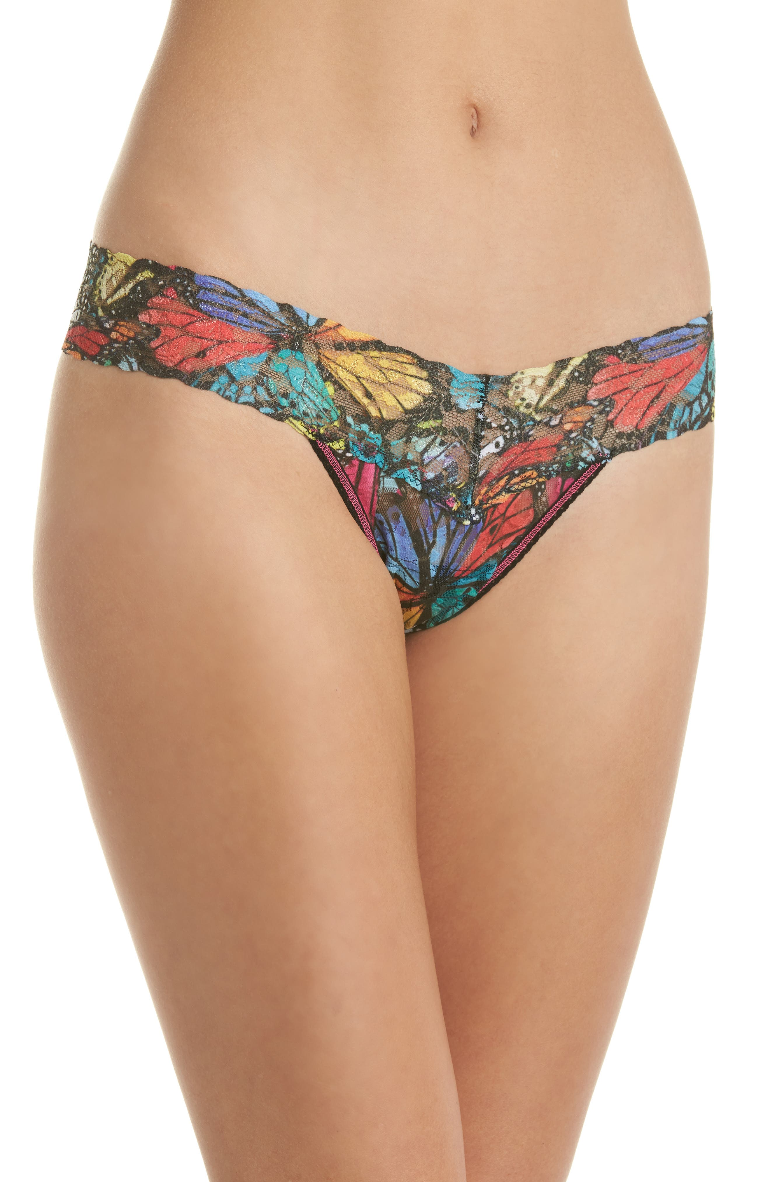Print Low Rise Thong,                             Main thumbnail 2, color,