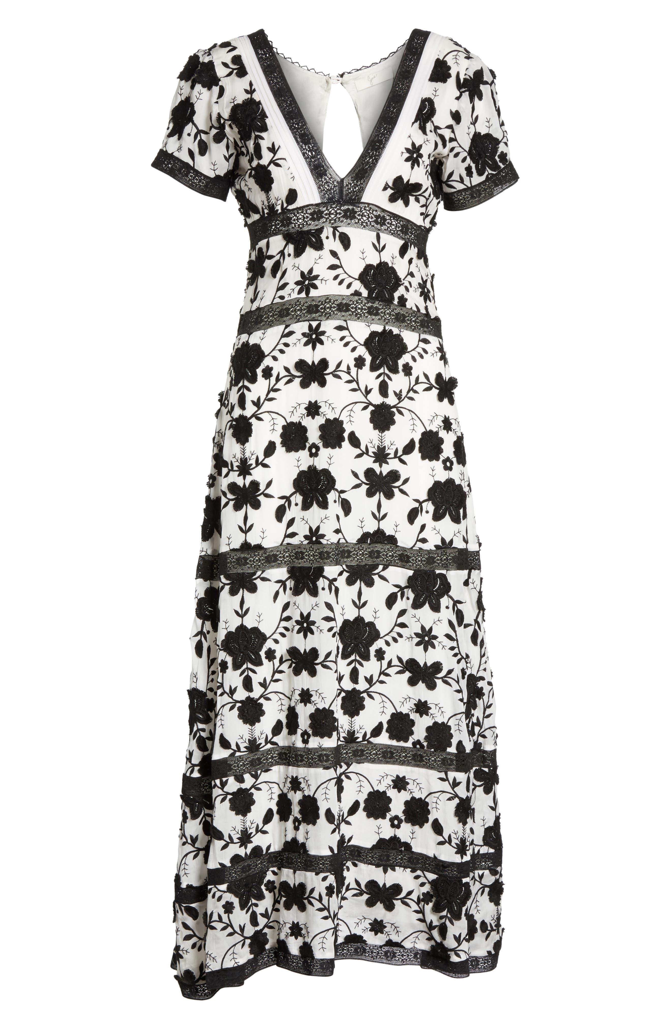 Fusca Floral Print Maxi Dress,                             Alternate thumbnail 6, color,                             018