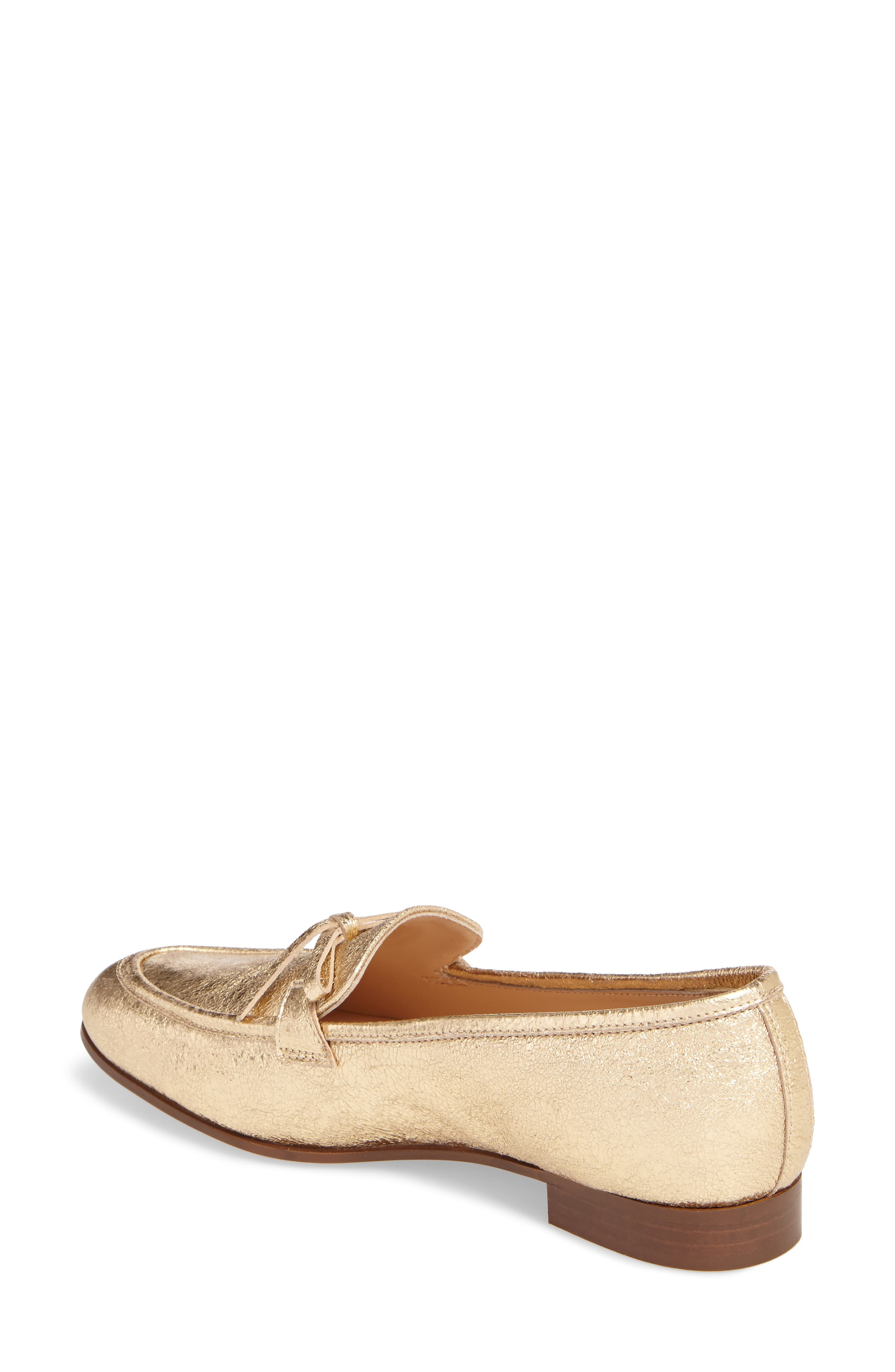 J. Crew Metallic Bow Loafer,                             Alternate thumbnail 2, color,                             710