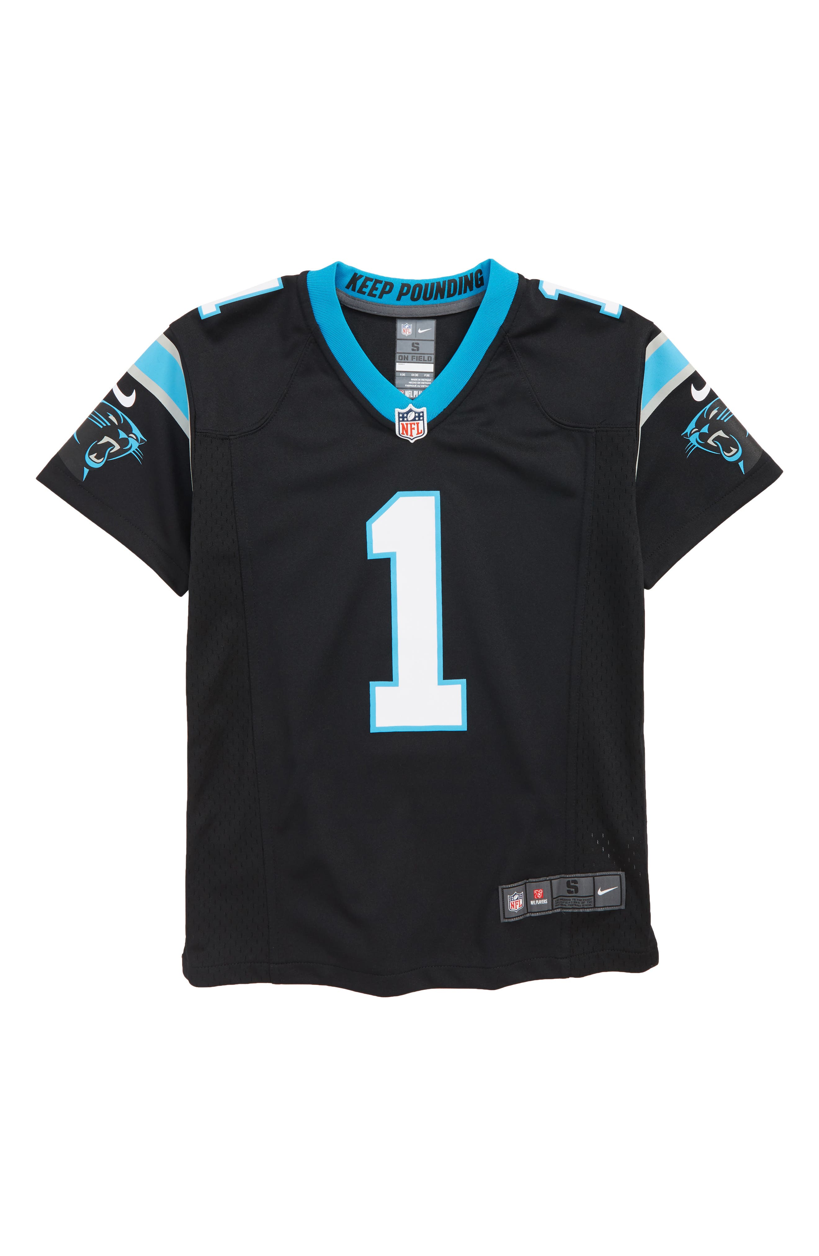 NFL Jersey T-Shirt,                             Main thumbnail 1, color,                             BLACK/ NEWTON