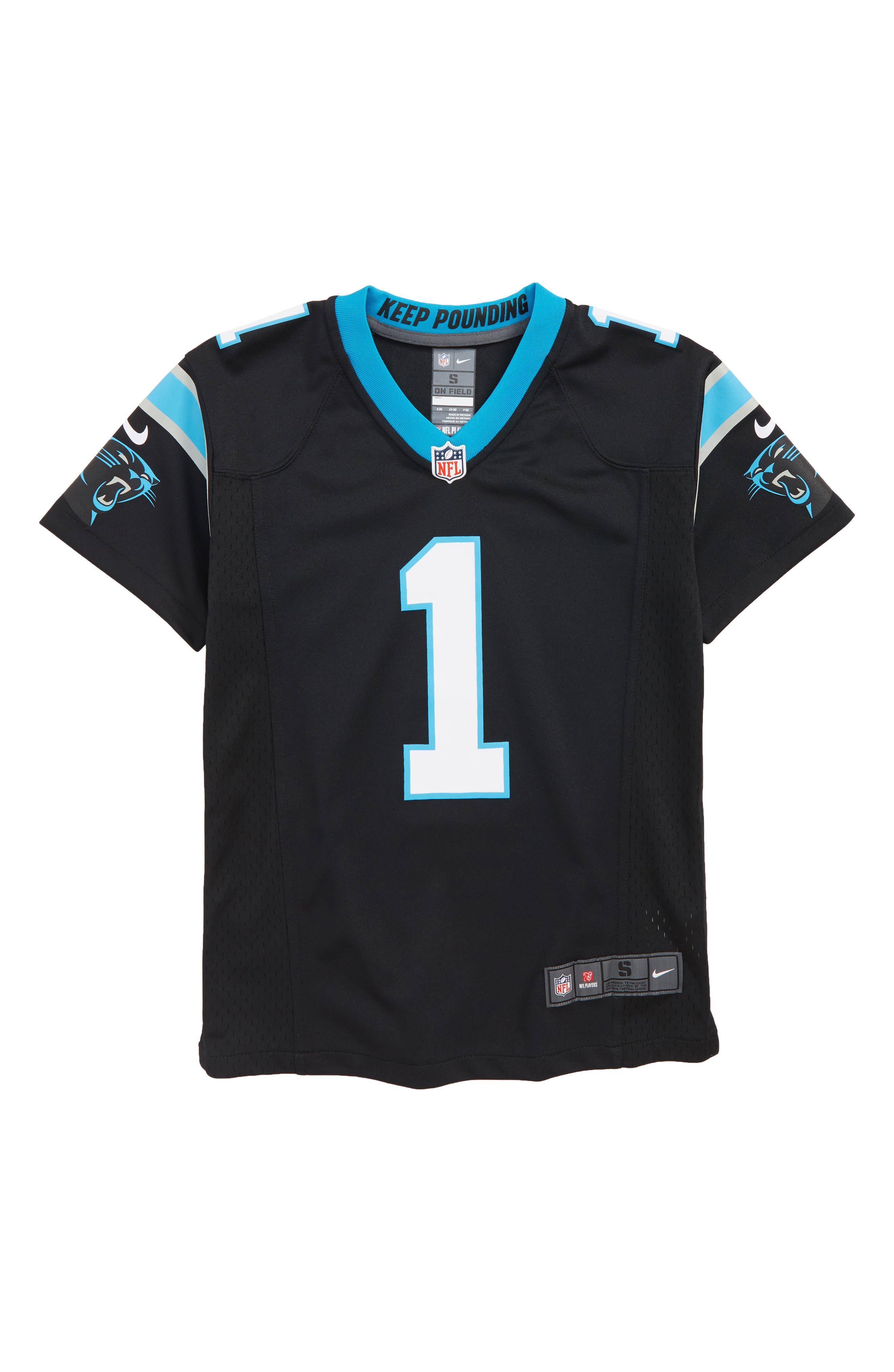NFL Jersey T-Shirt,                         Main,                         color, BLACK/ NEWTON