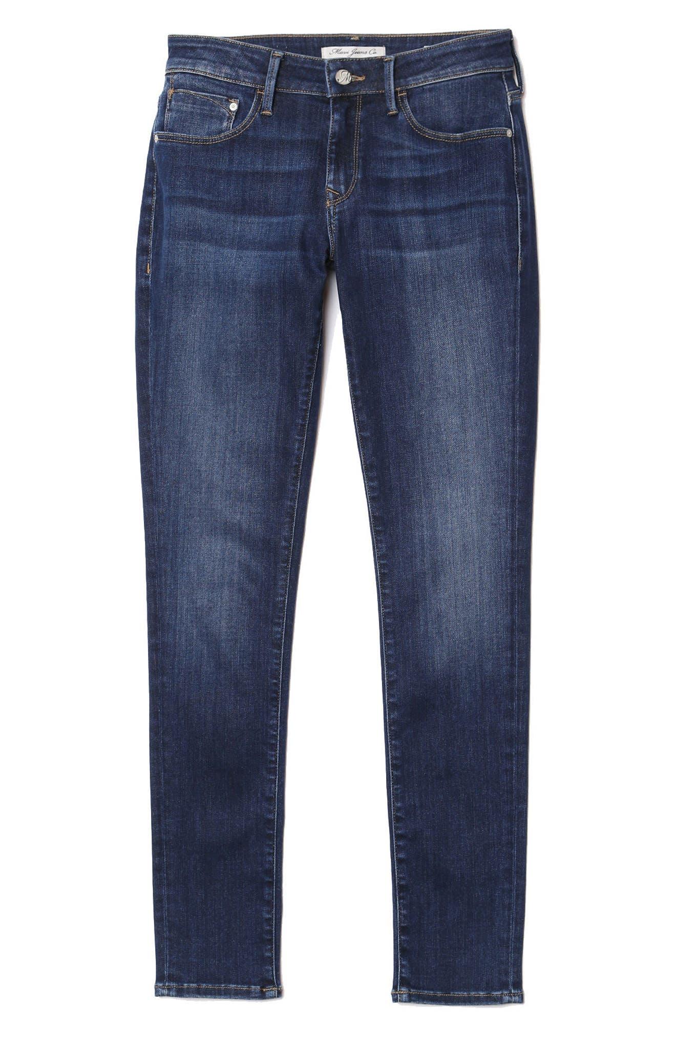 Alexa Supersoft Skinny Jeans,                             Alternate thumbnail 4, color,                             DARK SUPER SOFT